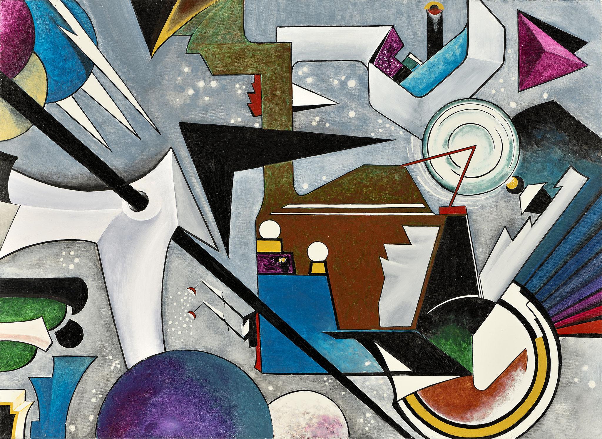 """""""Composition IX"""" - Öl auf Leinwand -"""