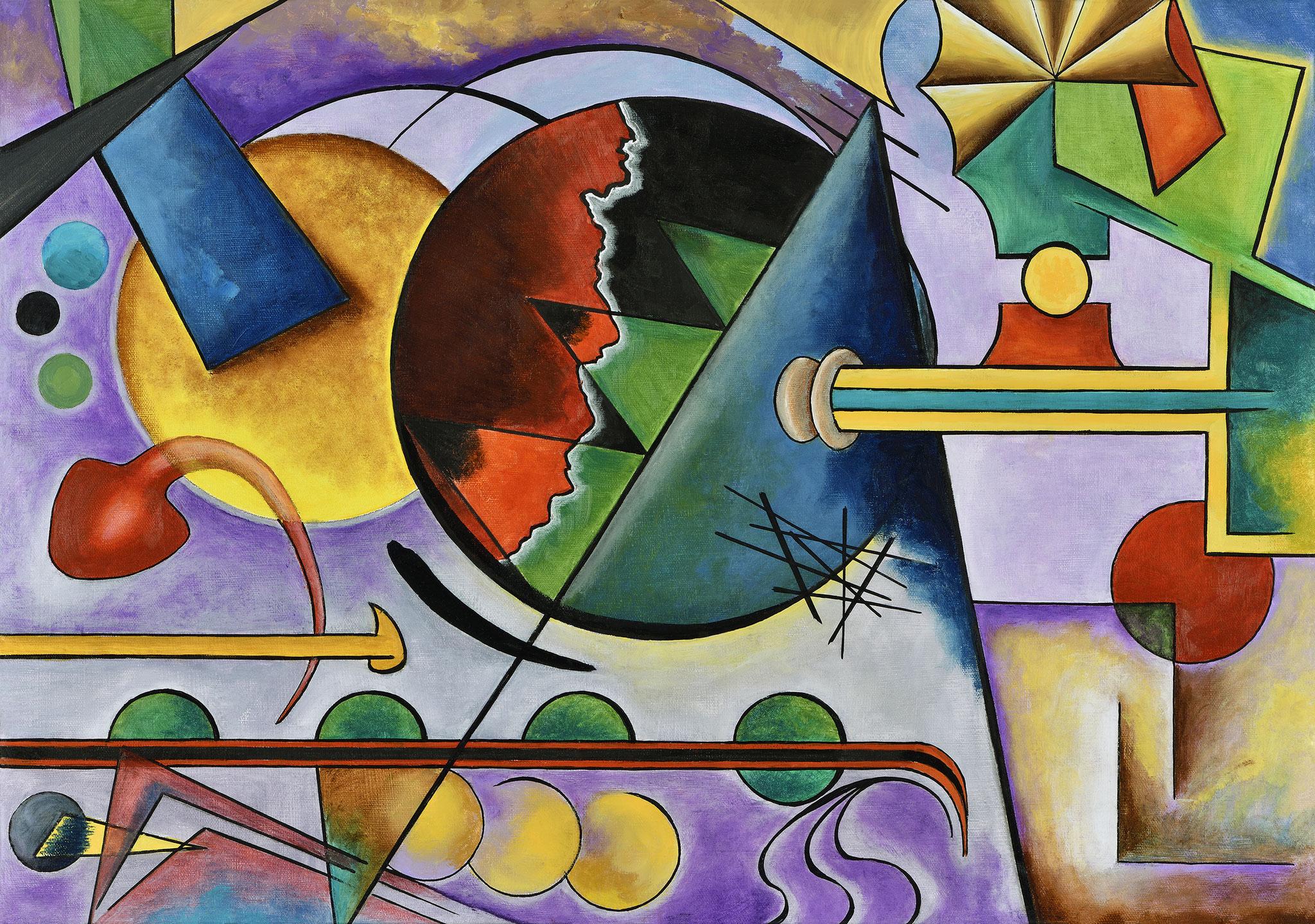 """""""Composition II"""" - Öl auf Leinwand -"""