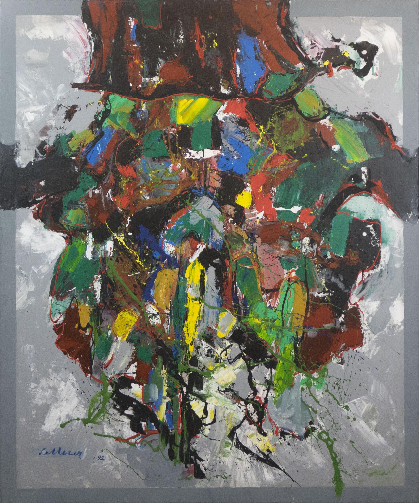 """""""Das Füllhorn"""" 1992 - Acryl auf Leinen - 100x120 cm"""