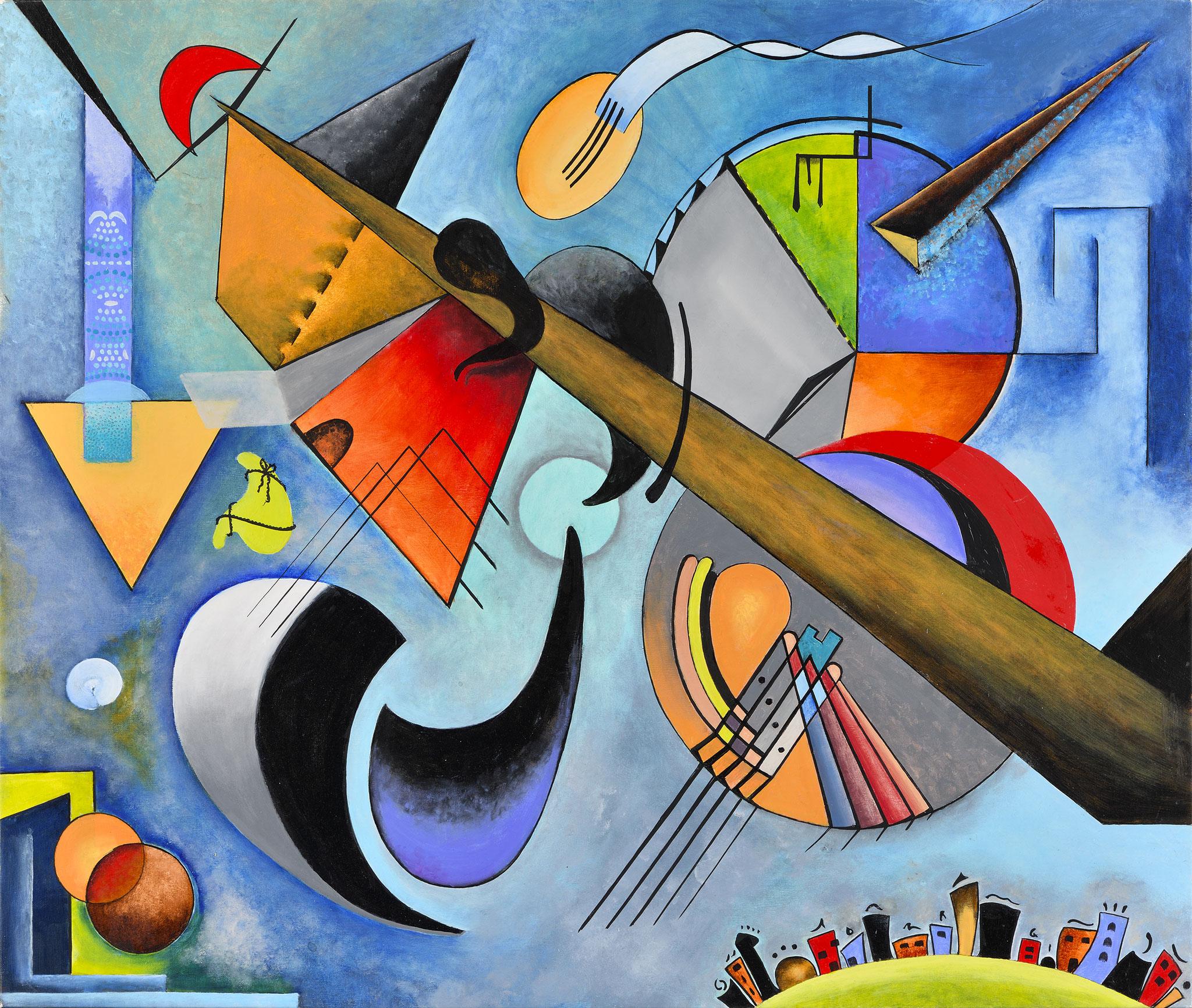 """""""Composition XXV"""" - Öl auf Leinwand -"""