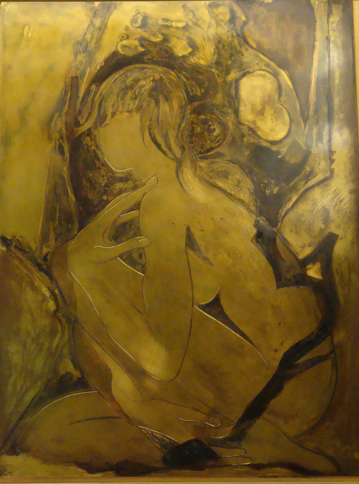 """""""Akt"""" 2009 - Messing - 64x84 cm"""