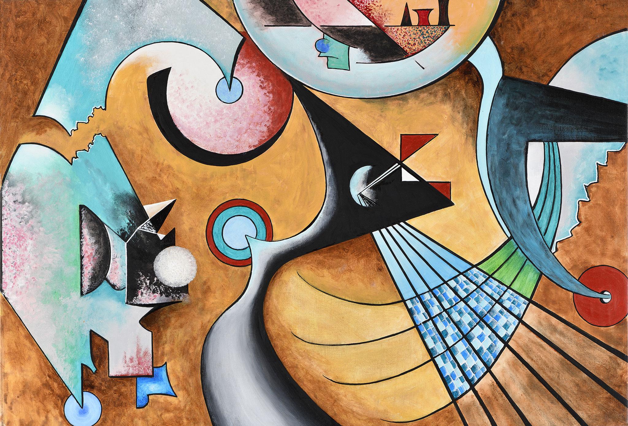"""""""Composition XVI"""" - Öl auf Leinwand -"""