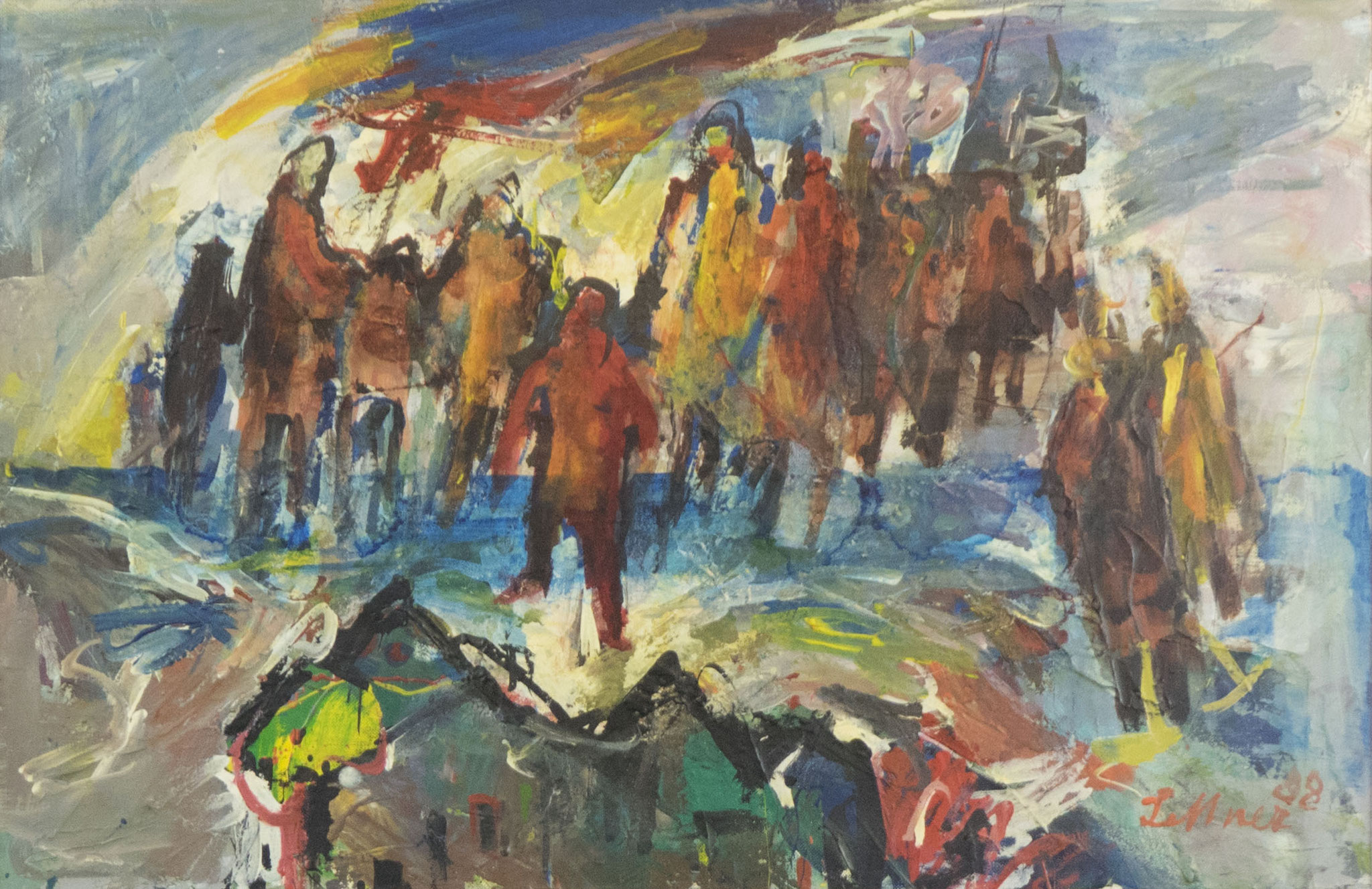"""Wanderer"" 1988 - Acryl auf Leinwand - 70x45 cm"