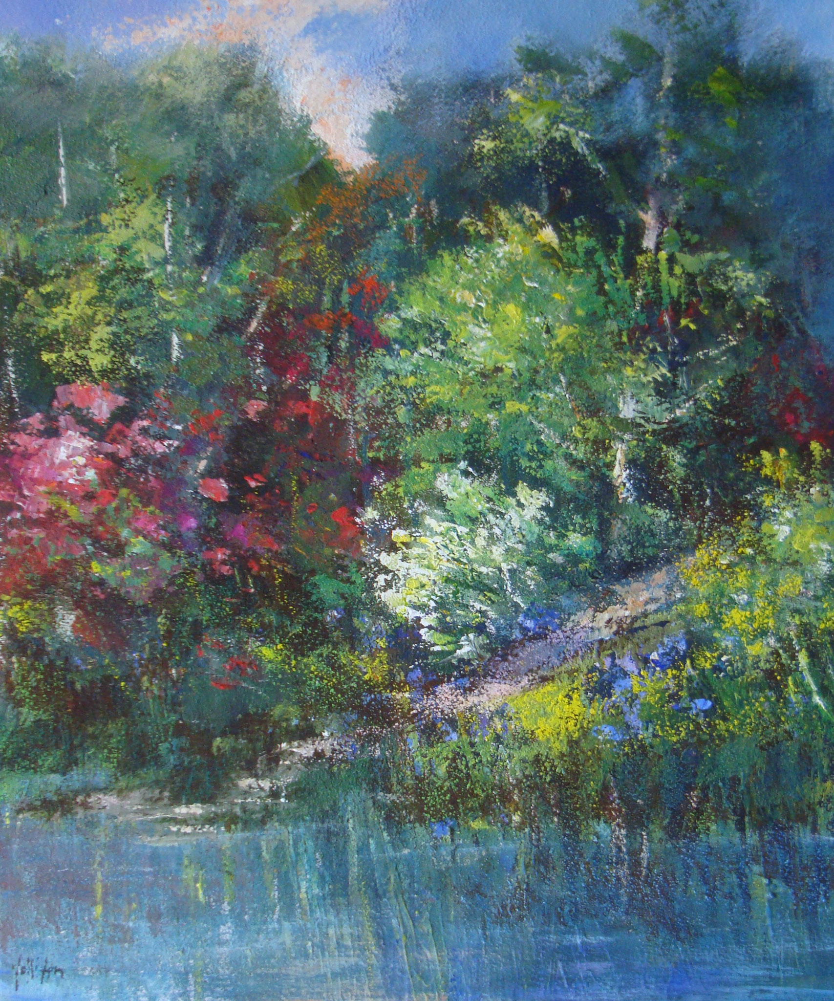 """Primavera esplosa"" 2017 - Öl auf Leinwand - 60x50 cm"