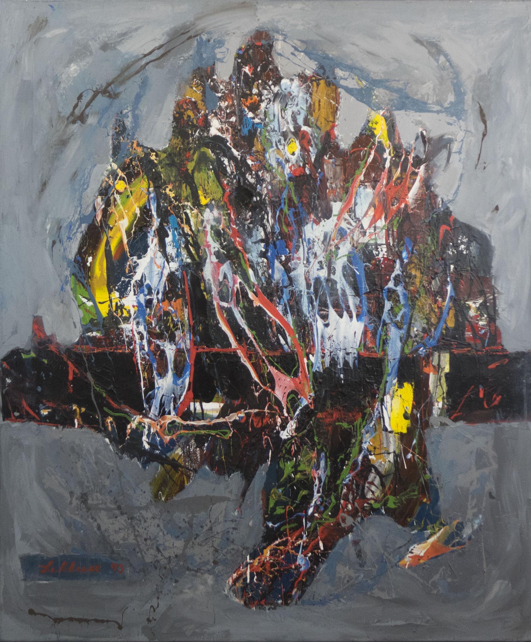 """""""Carnevale in Venedig"""" 1993 - Acryl auf Leinen - 100x120 cm"""