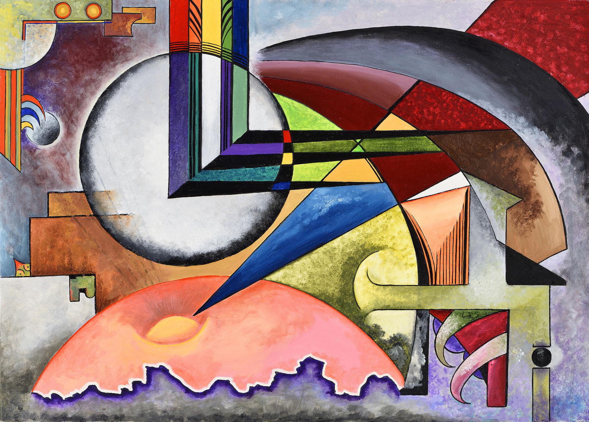"""Composition VI"" - Öl auf Leinwand -"