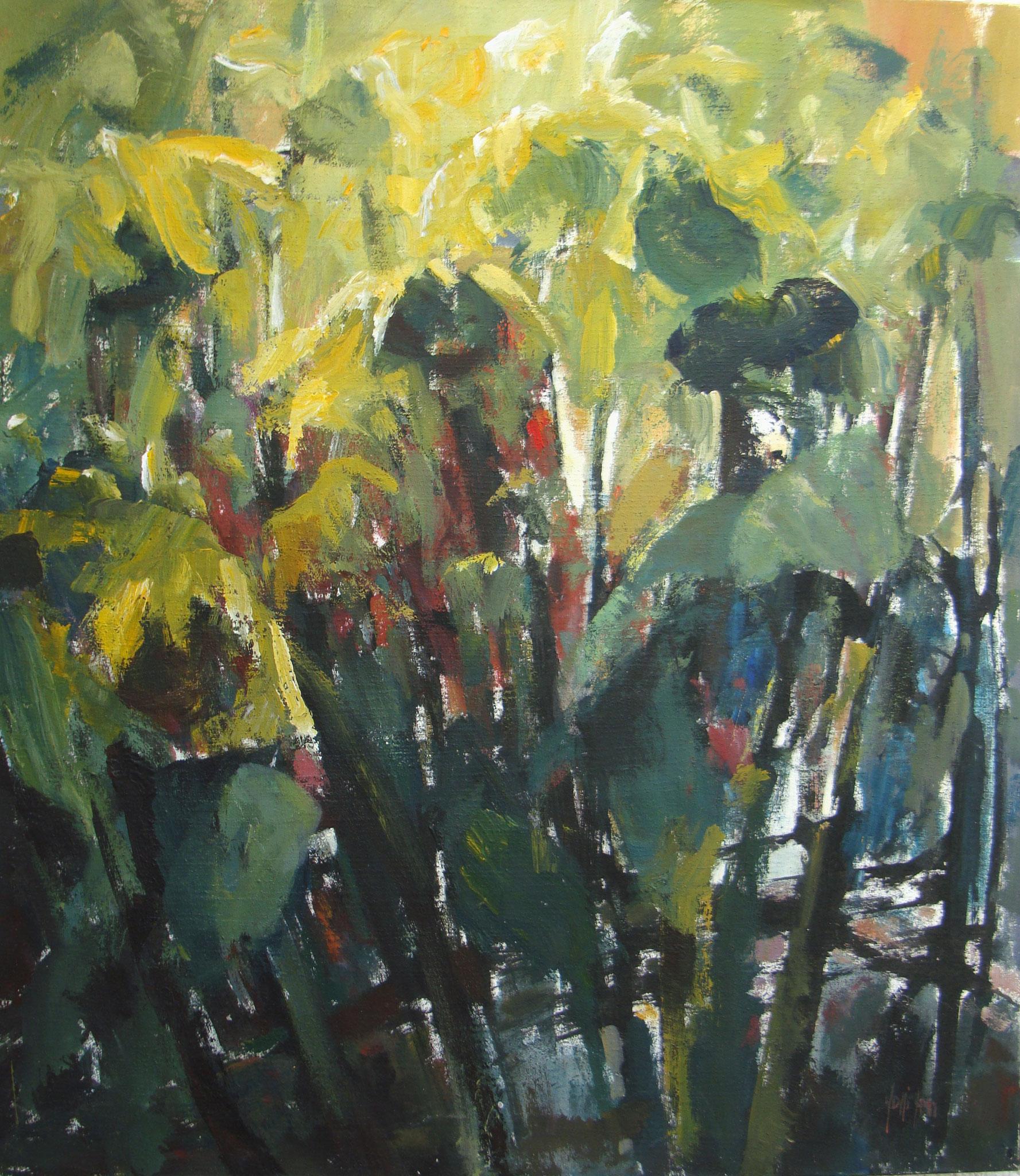 """Sotto il sole"" 1996 - Öl auf Leinwand - 90x80 cm"