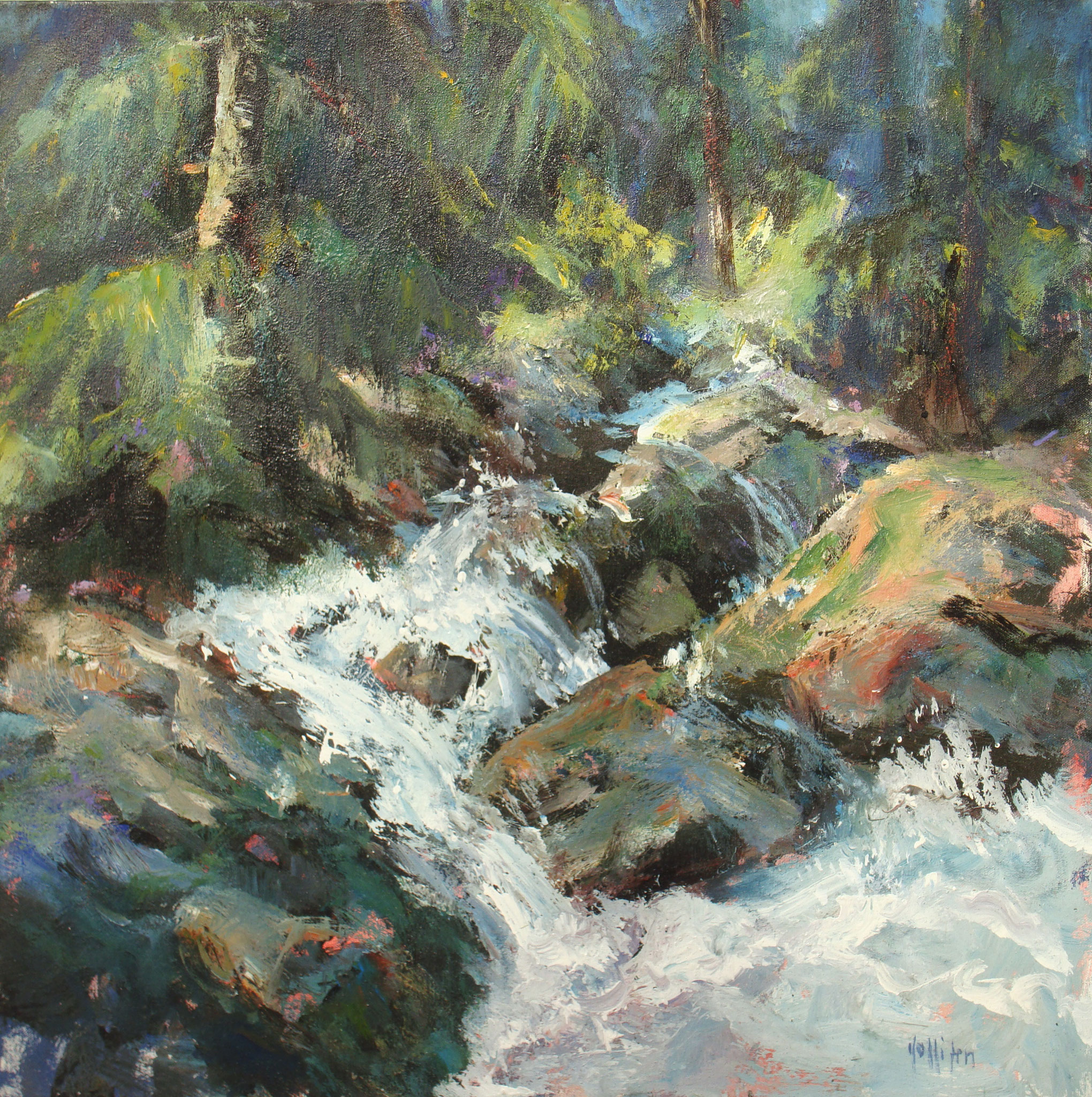 """""""Aquae"""" 1998 - Öl auf Leinwand - 70x70 cm"""