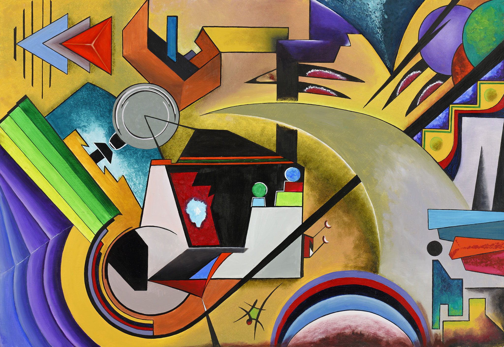"""Composition VIII"" - Öl auf Leinwand -"