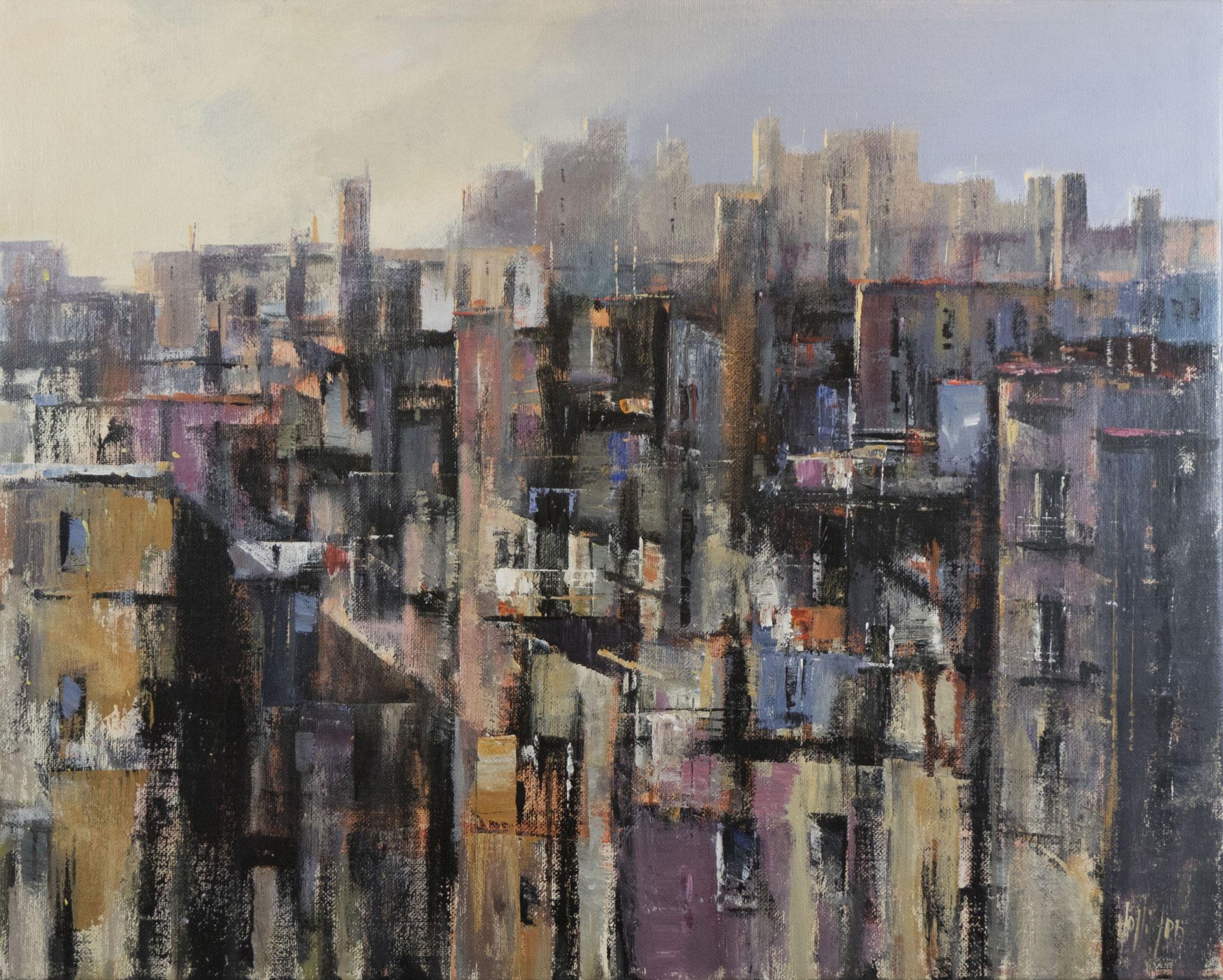 """""""Dimore la citta che muore"""" 2005 - Öl auf Leinwand - 100x80 cm"""
