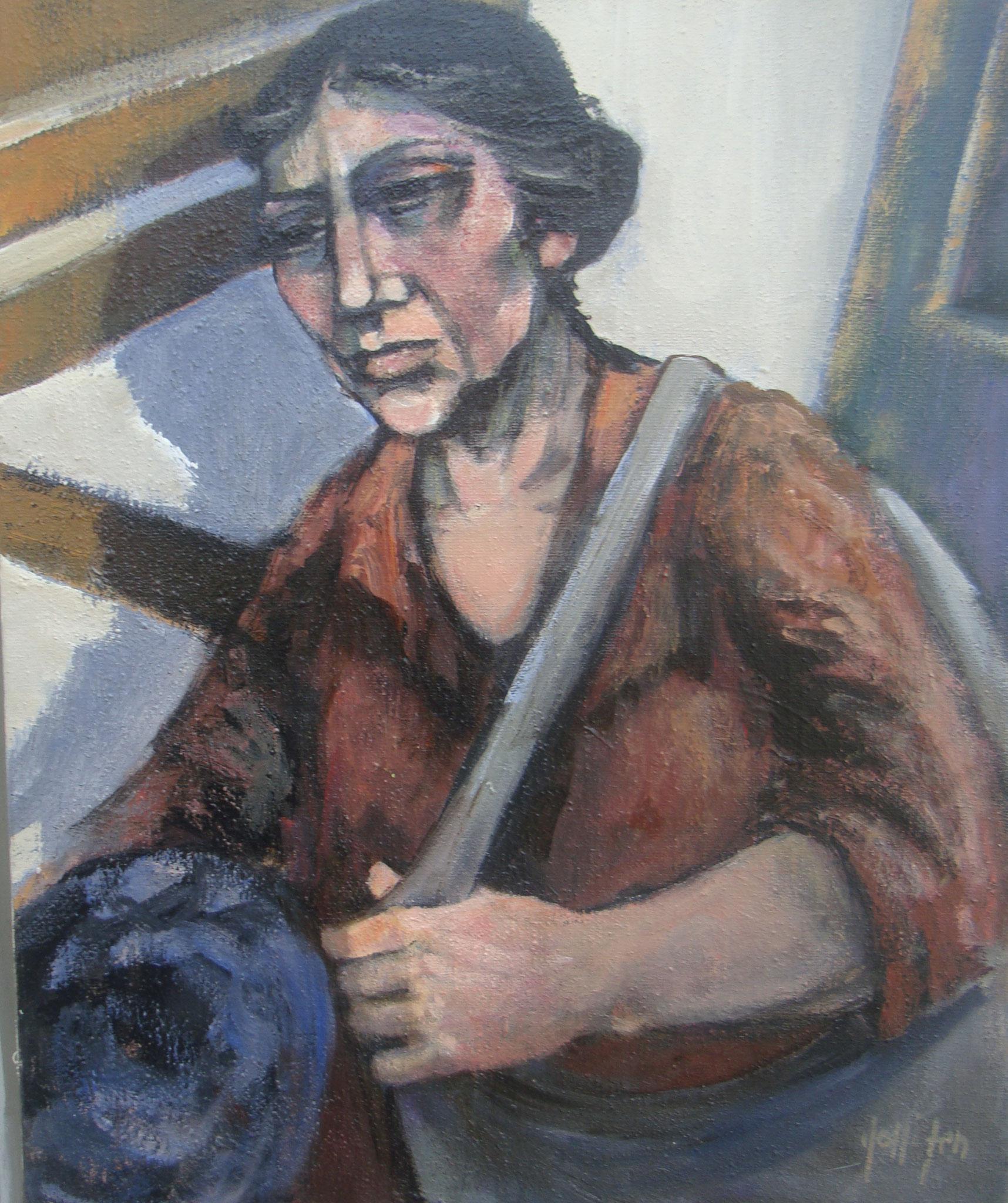 """""""Esodo tela"""" 1999 - Öl auf Leinwand - 50x40 cm"""