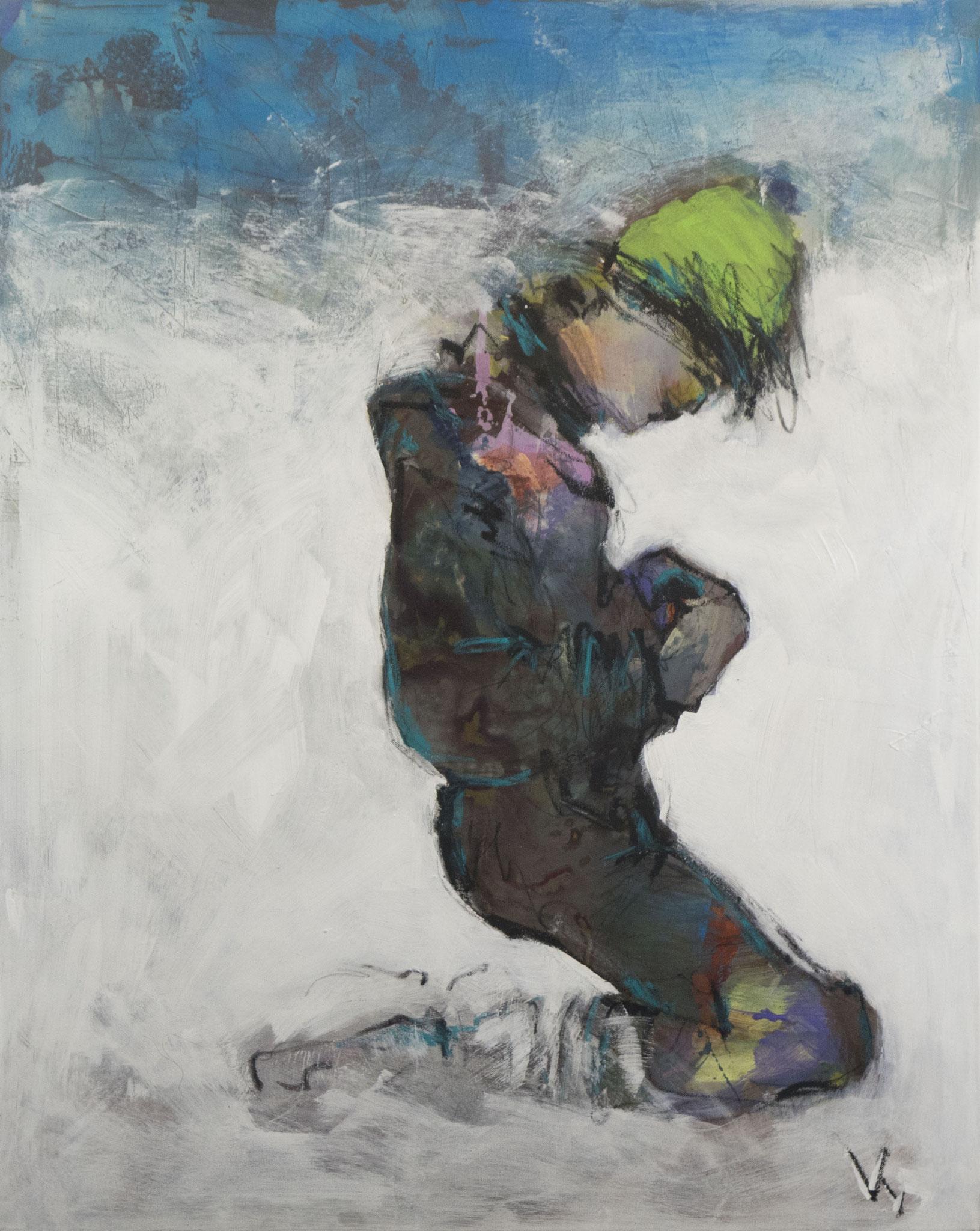 """2"" - Acryl auf Leinwand -  80x100 cm"