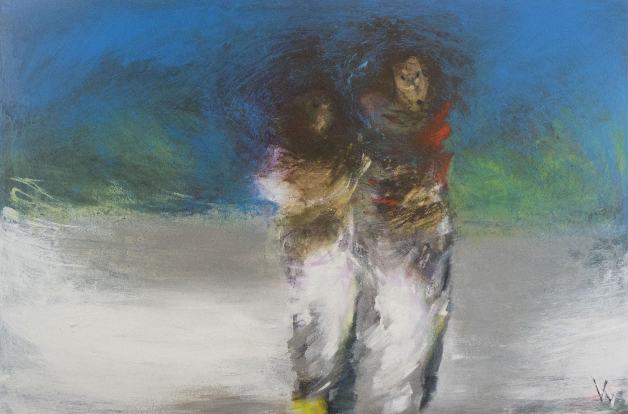 """4"" - Acryl auf Leinwand - 120x80 cm"