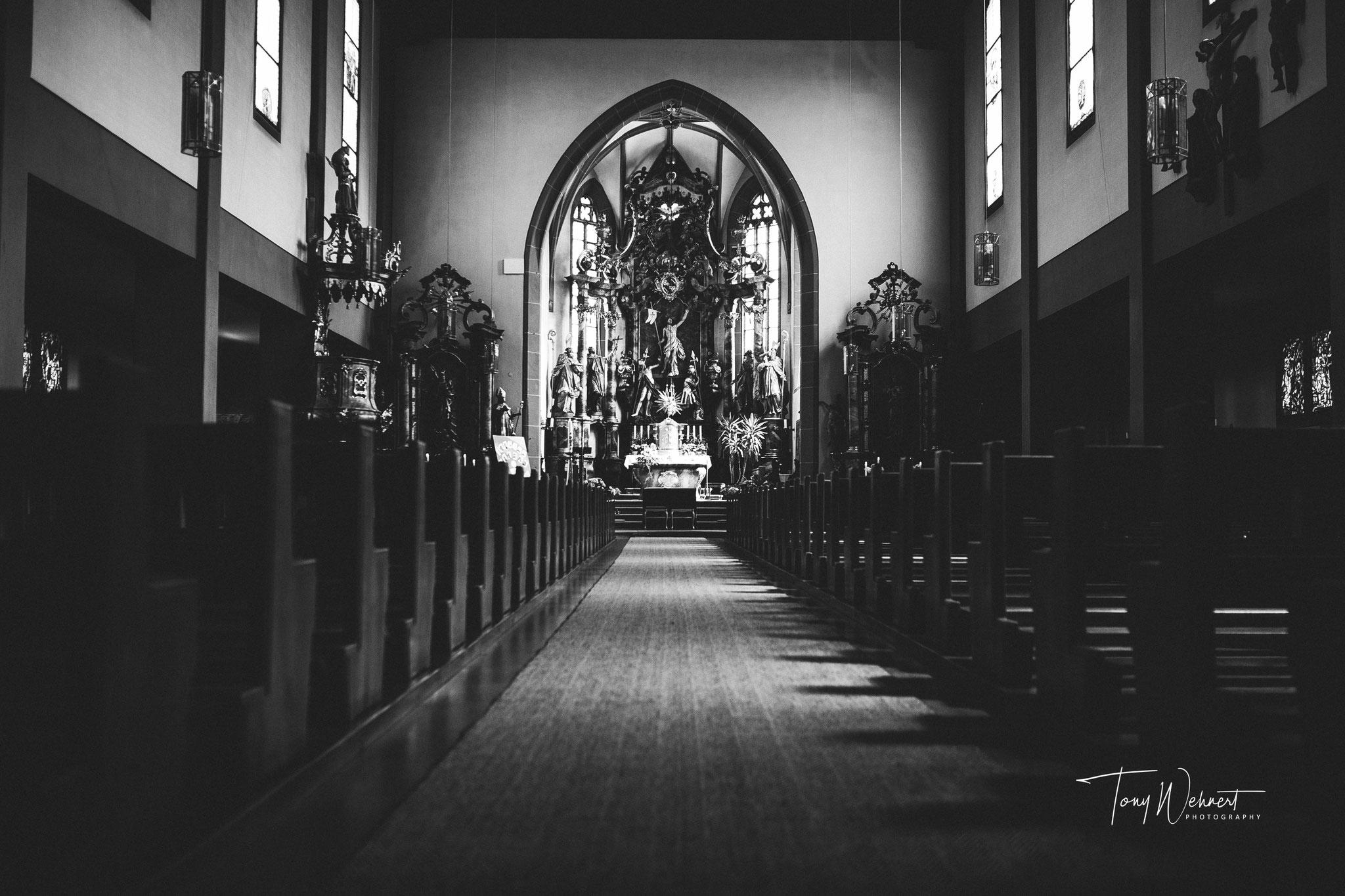 Die Kirche vor der Zeremonie Hochzeitslocation