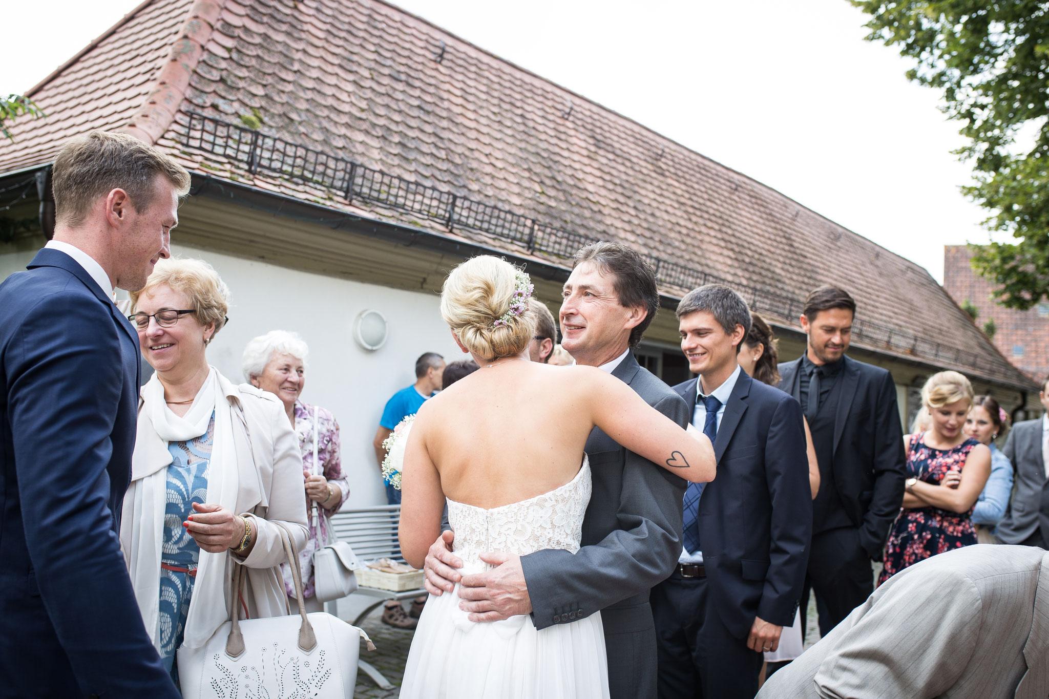 Gratulation an das Brautpaar