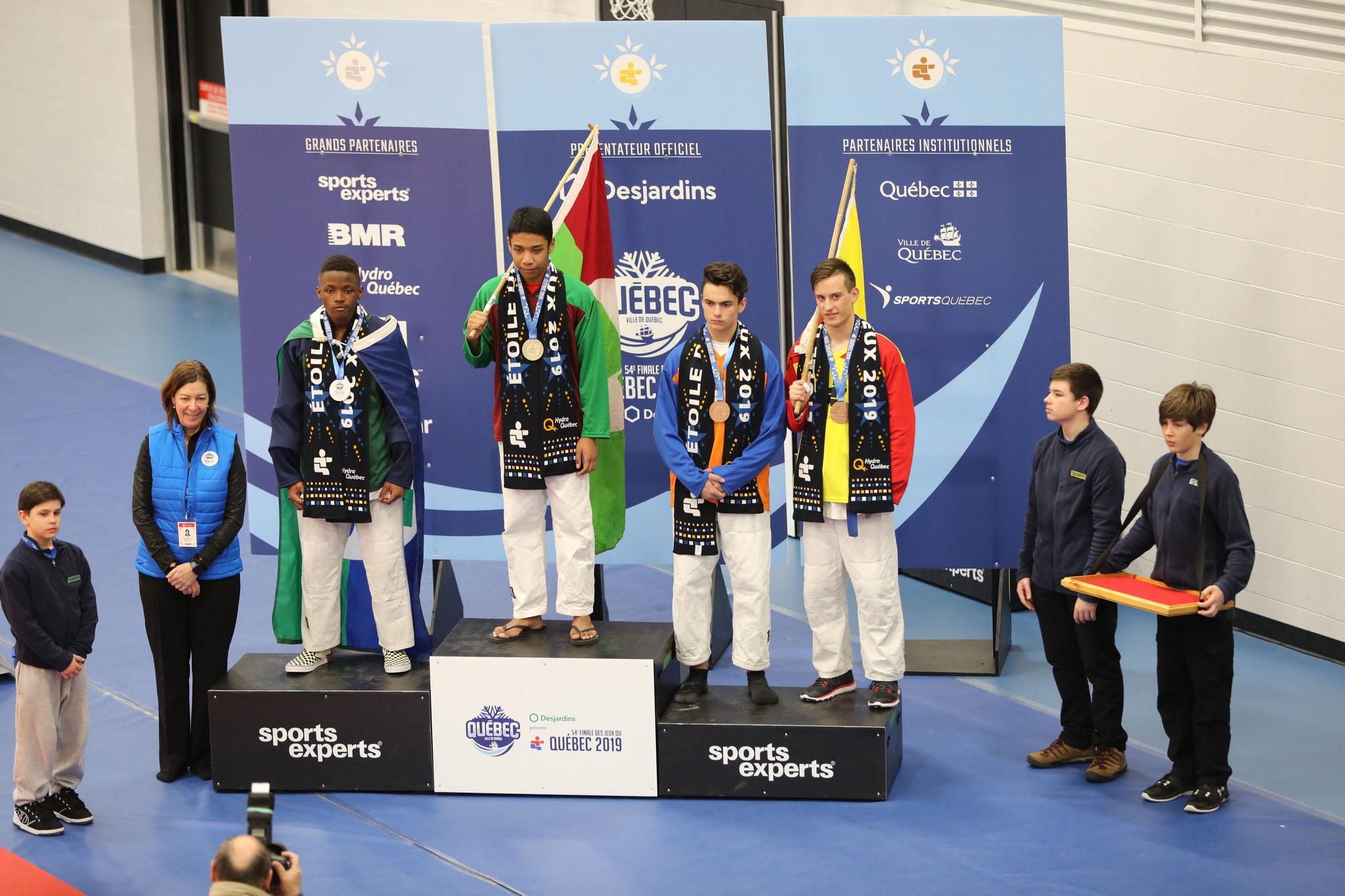 Jordan Marcouiller , médaille de bronze