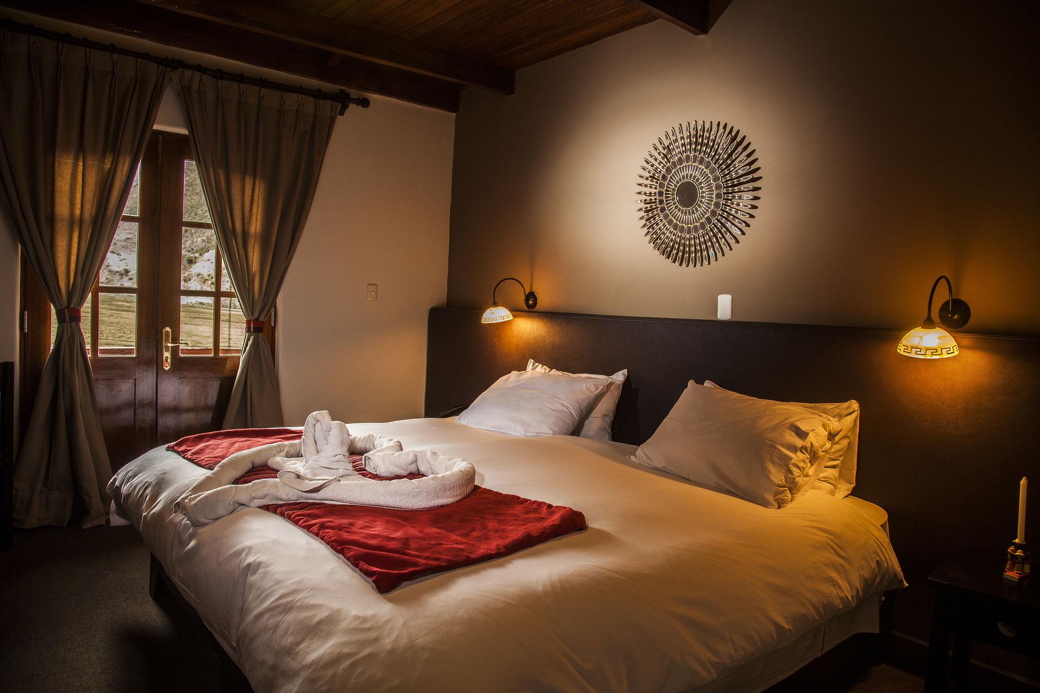 Schlafzimmer der komfortabeln Salkantay Berglodge