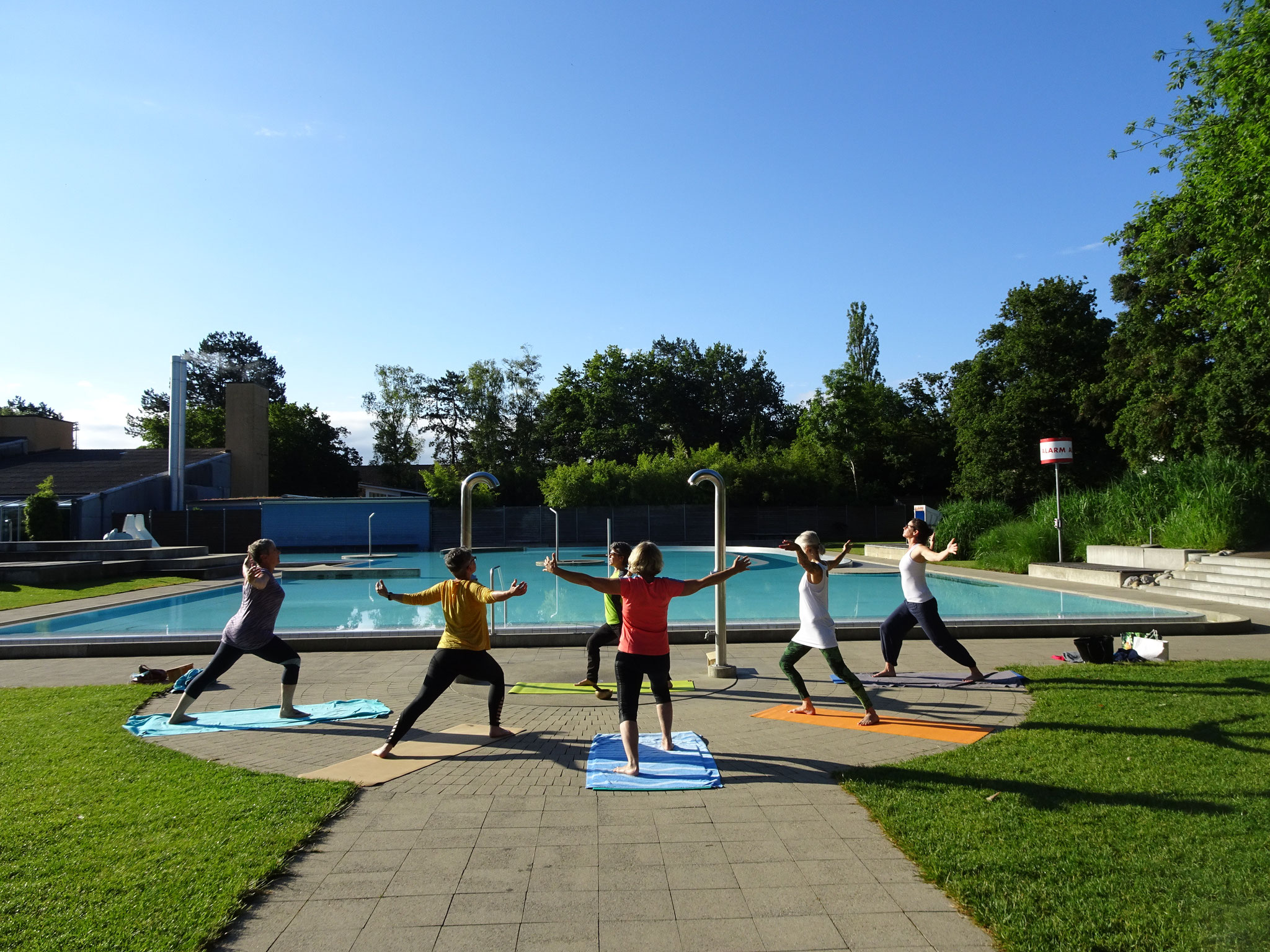 Openair Yoga in der KSS