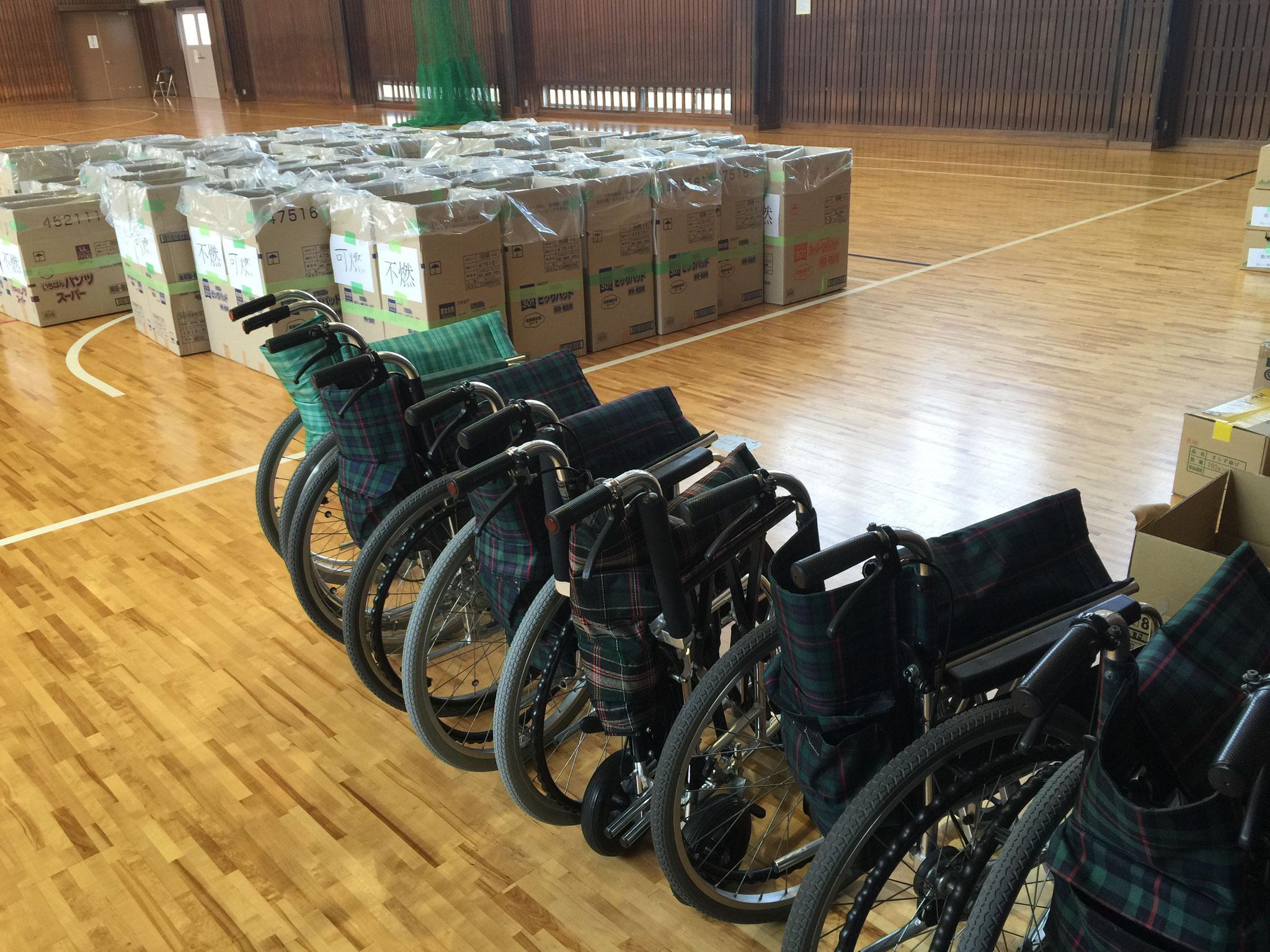 車椅子も用意