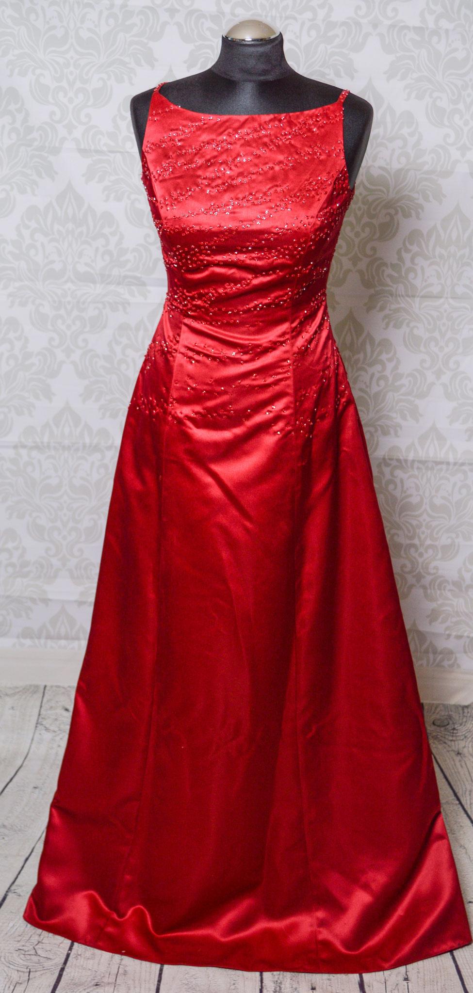 Nr. 11Schickes Abendkleid in Rot inkl Schal für die Schultern Gr. 36
