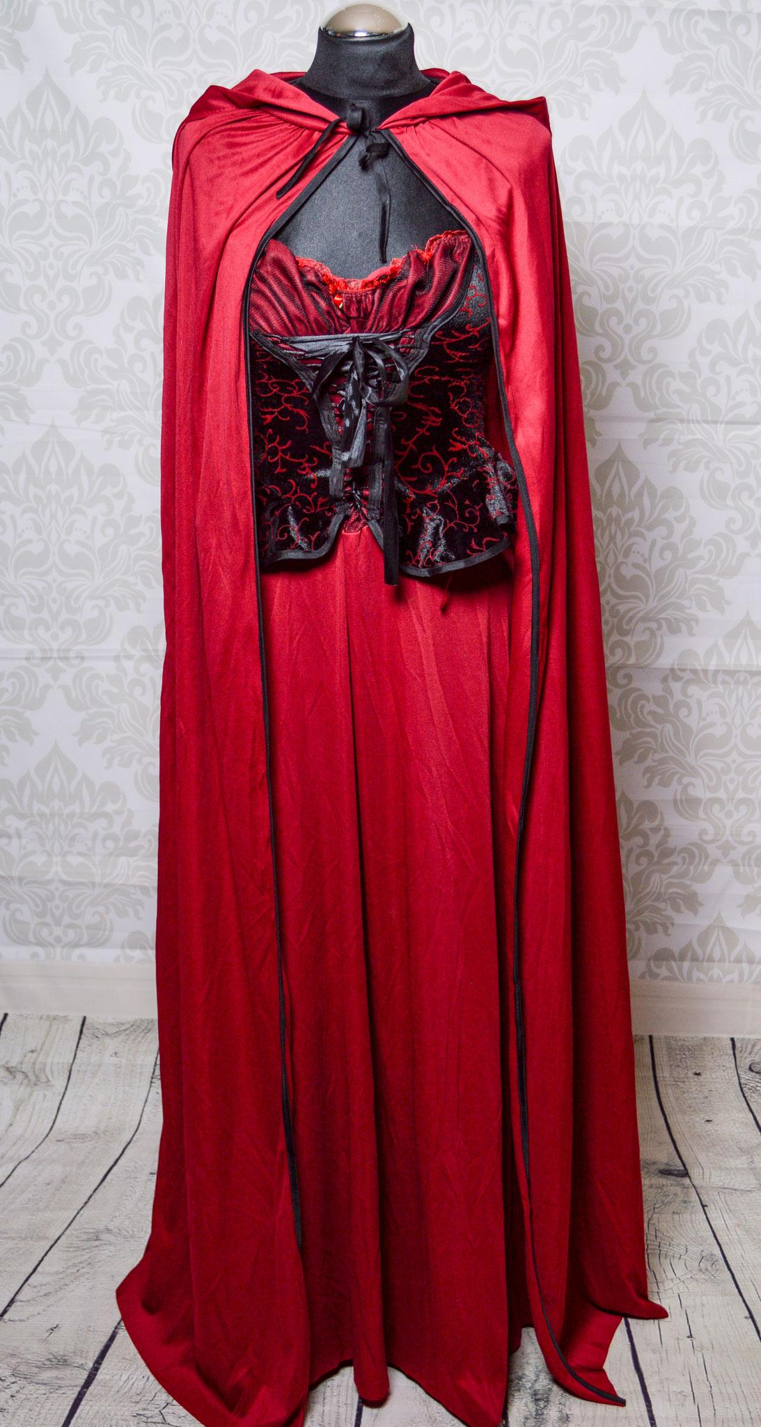 Nr. 9 Mittelalter Kleid Gr. 36/38 inkl Umhang (Mit Umhang auch als Rotkäppchen möglich)