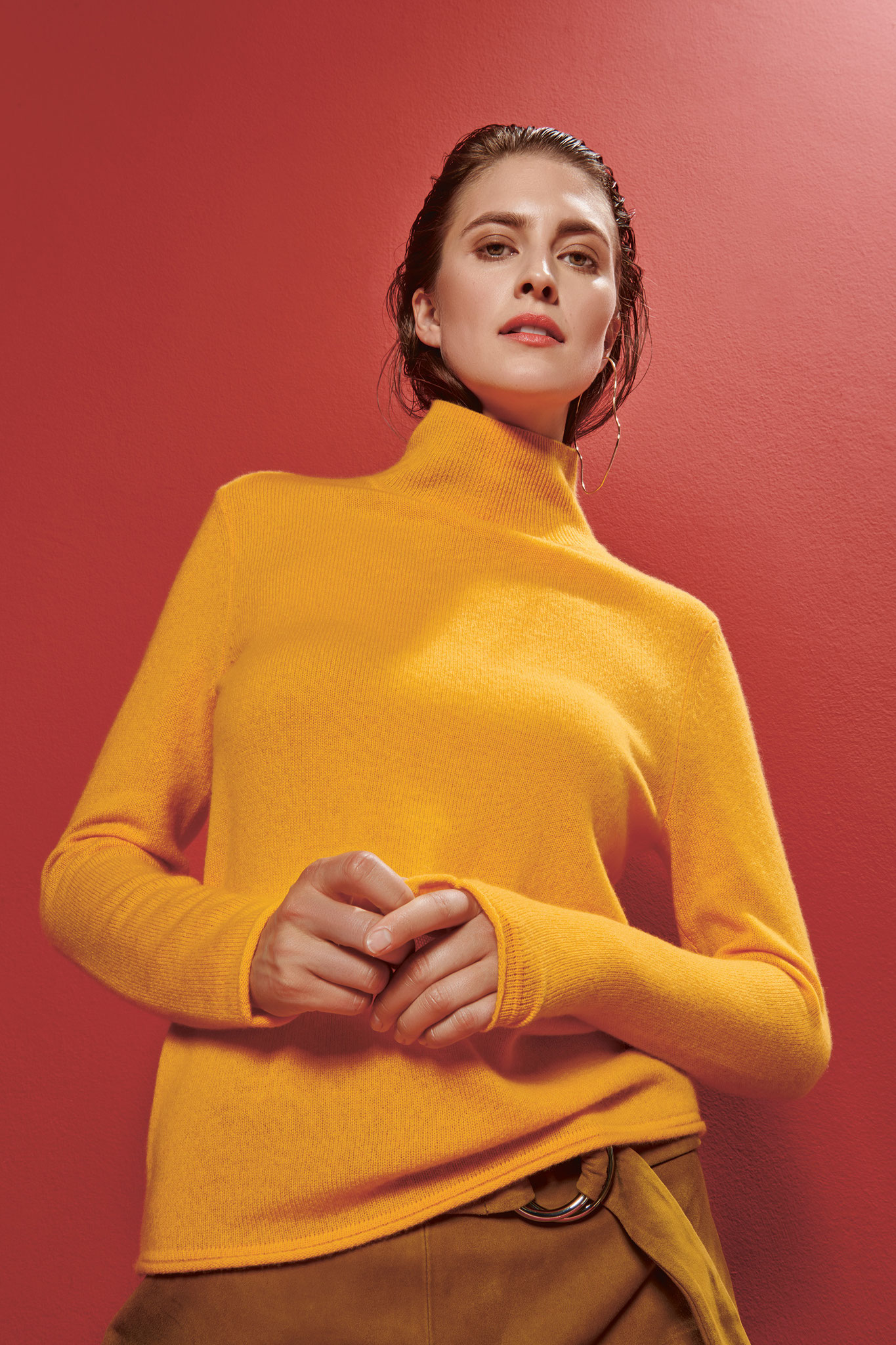 ESISTO - Cashmere - Collection F/S 2019 - Color senf Pullover