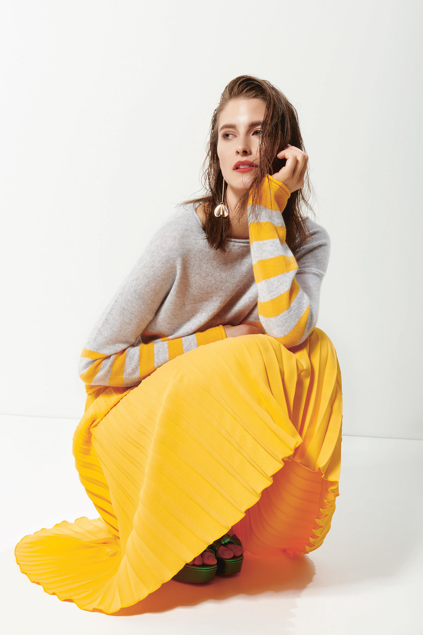 ESISTO - Cashmere - Collection F/S 2019 - Strick Pullover mit Streifen