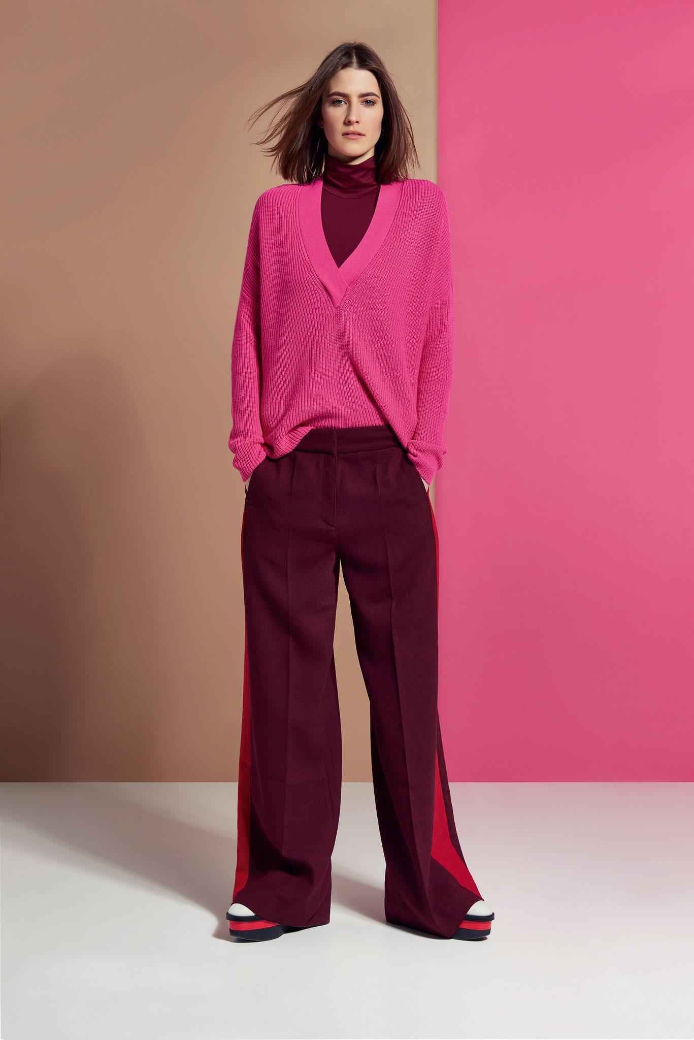 ESISTO Herbst Winter 2018 Kaschmir farbig pink