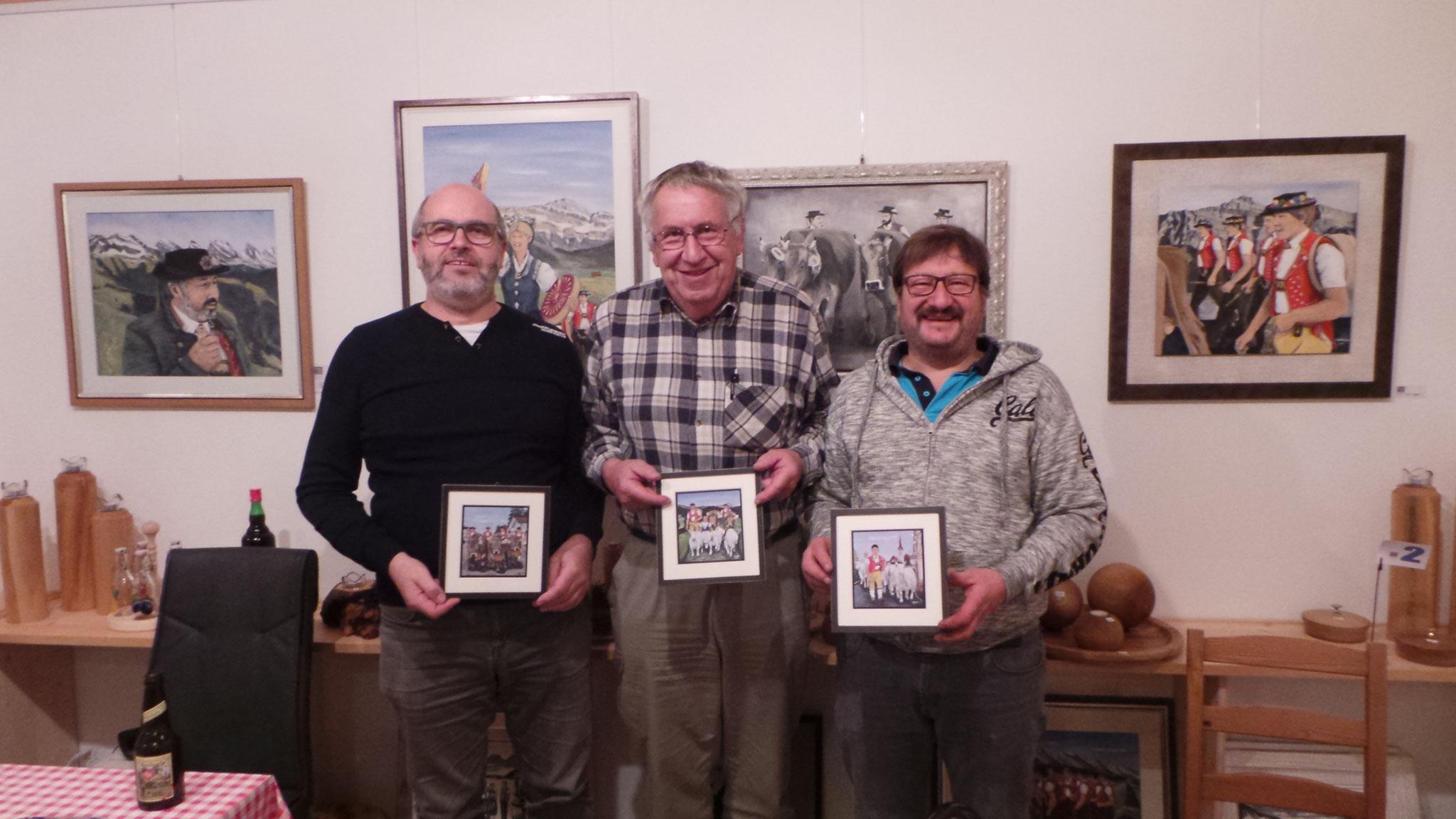 Die Gewinner;1. Werner Tobler,2. Petersturzenegger, 3. Jürg Rotach