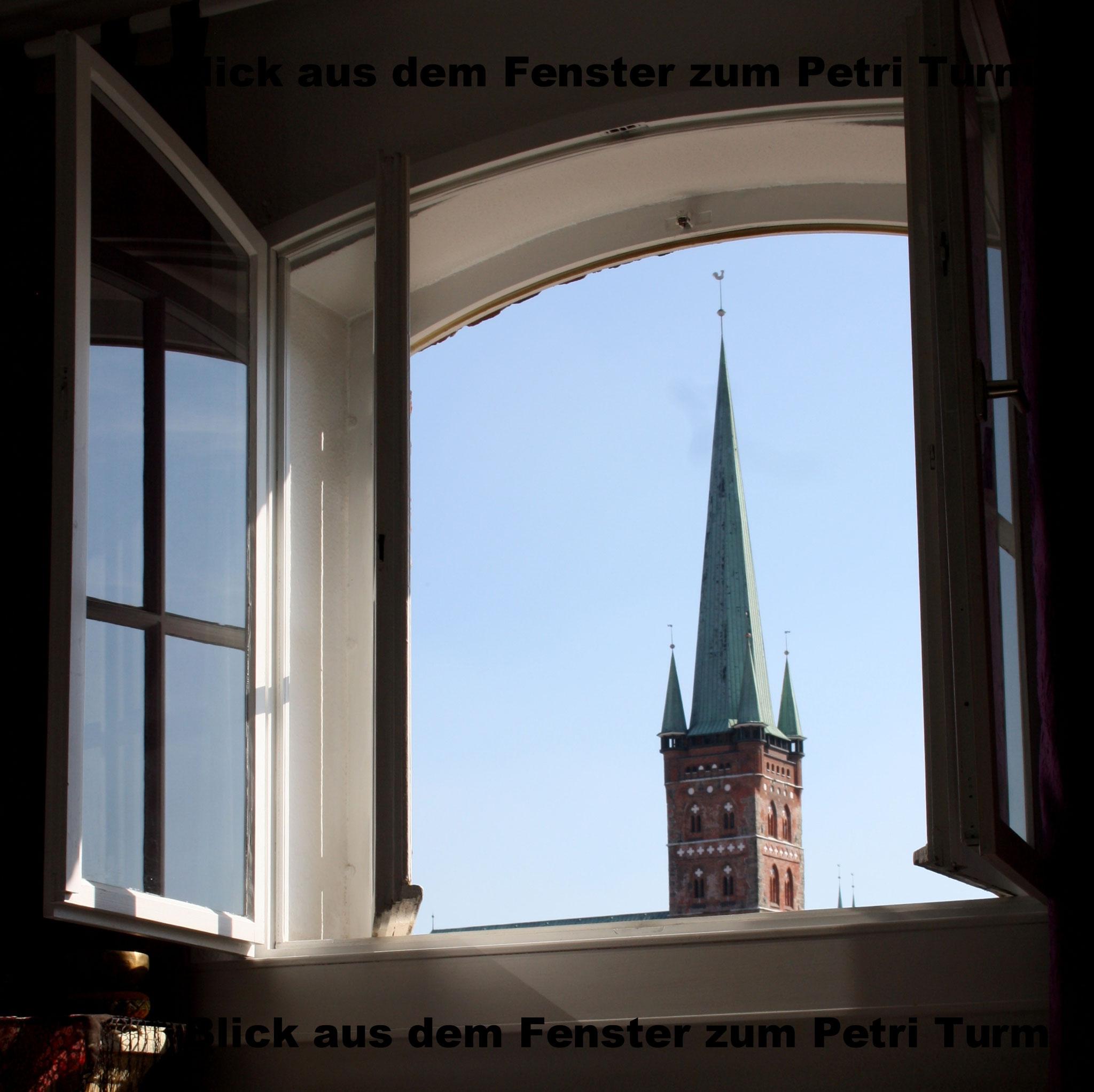 Blick aus dem Fenster im Yoga-Raum-Lübeck