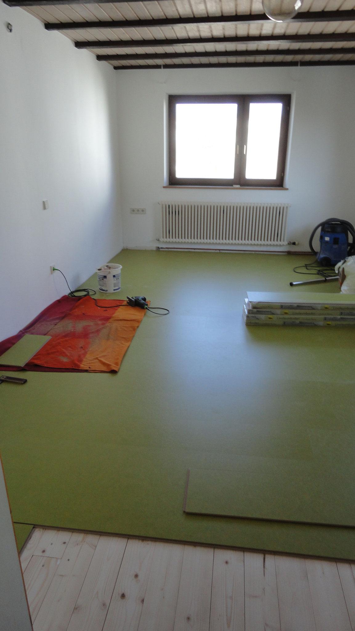 Fußboden / Linoleum-Parkett