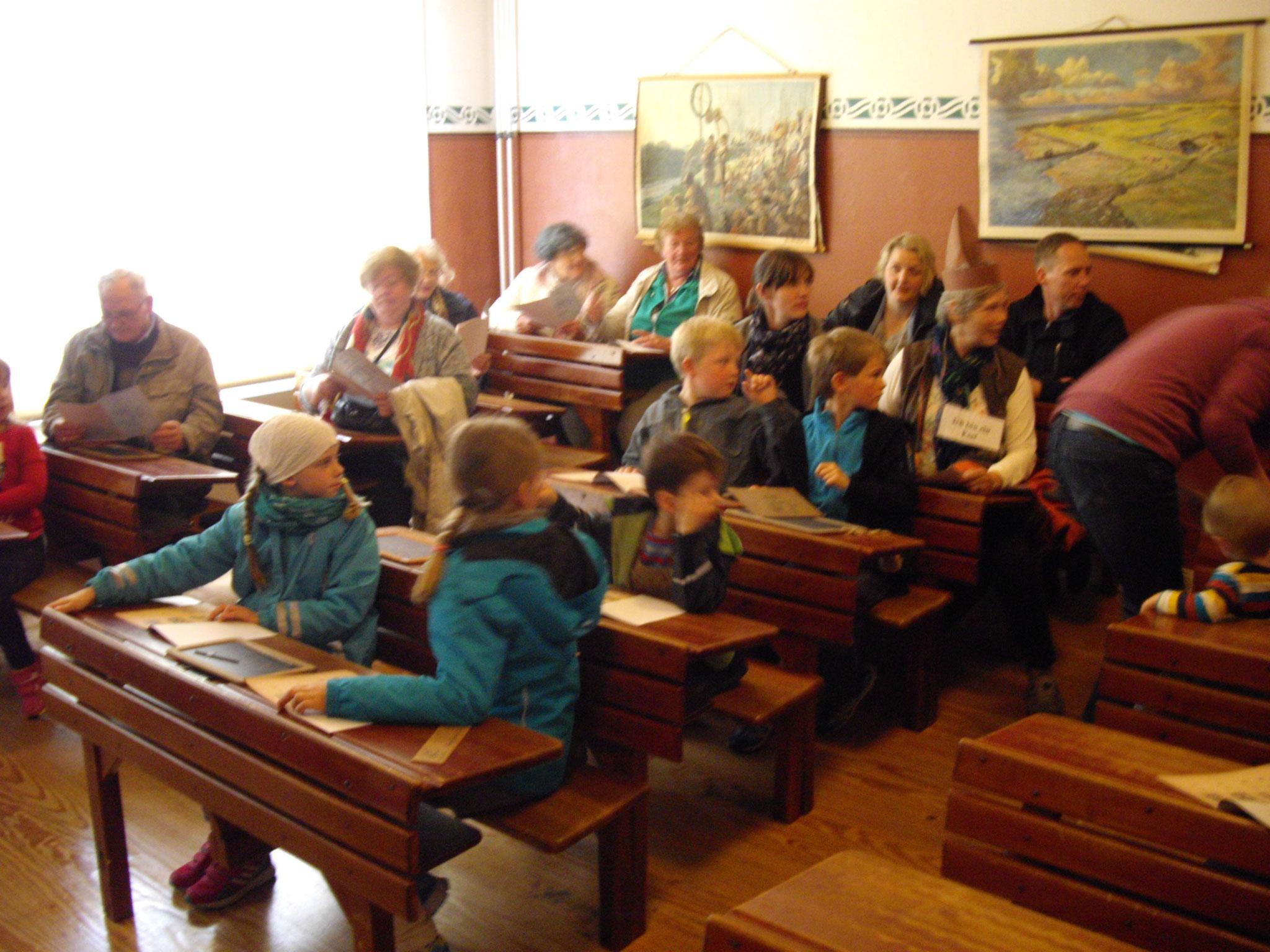 alter Klassenraum im Landesmuseum Dithmarschen