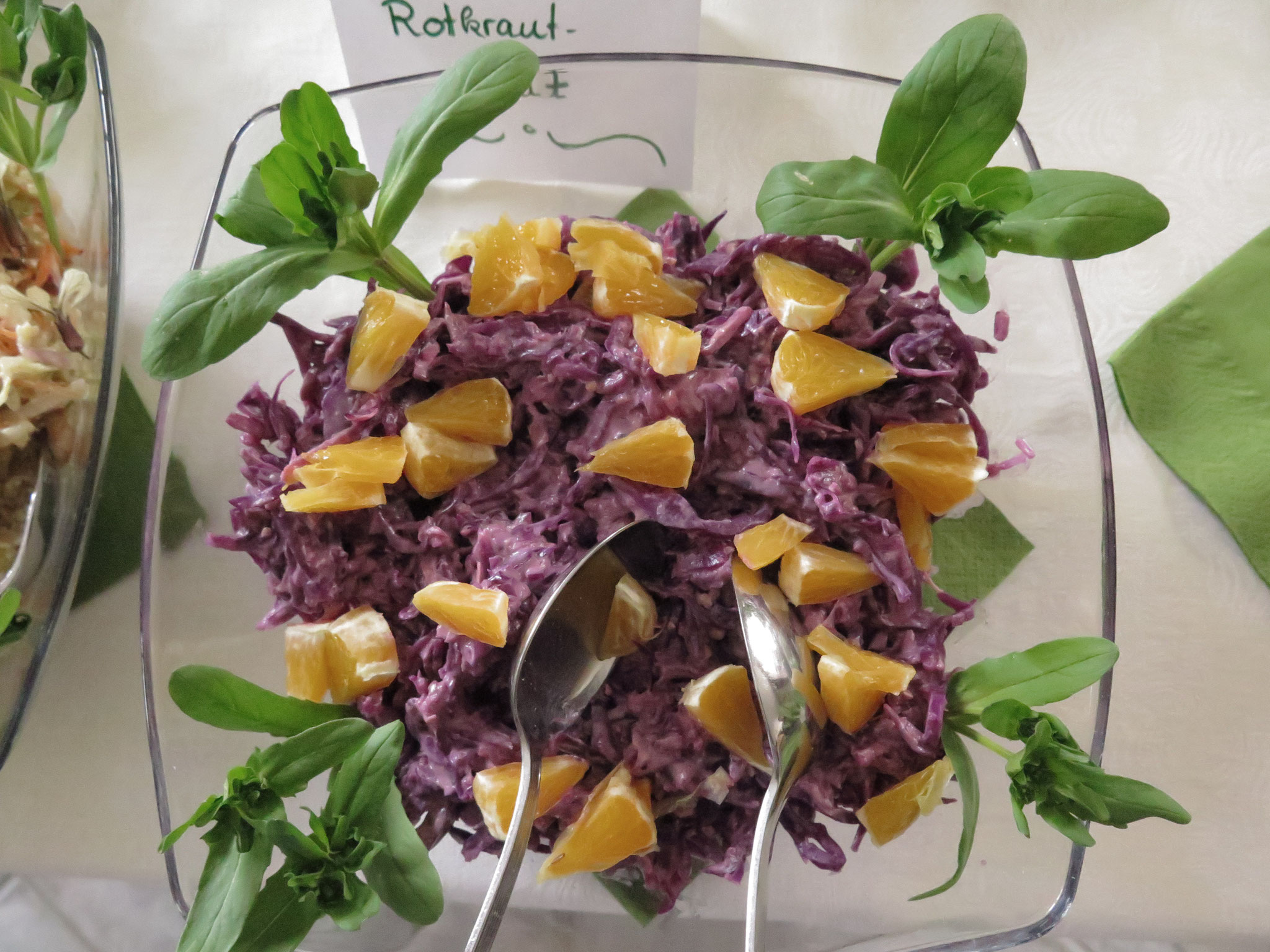 Rotkraut mit Orange
