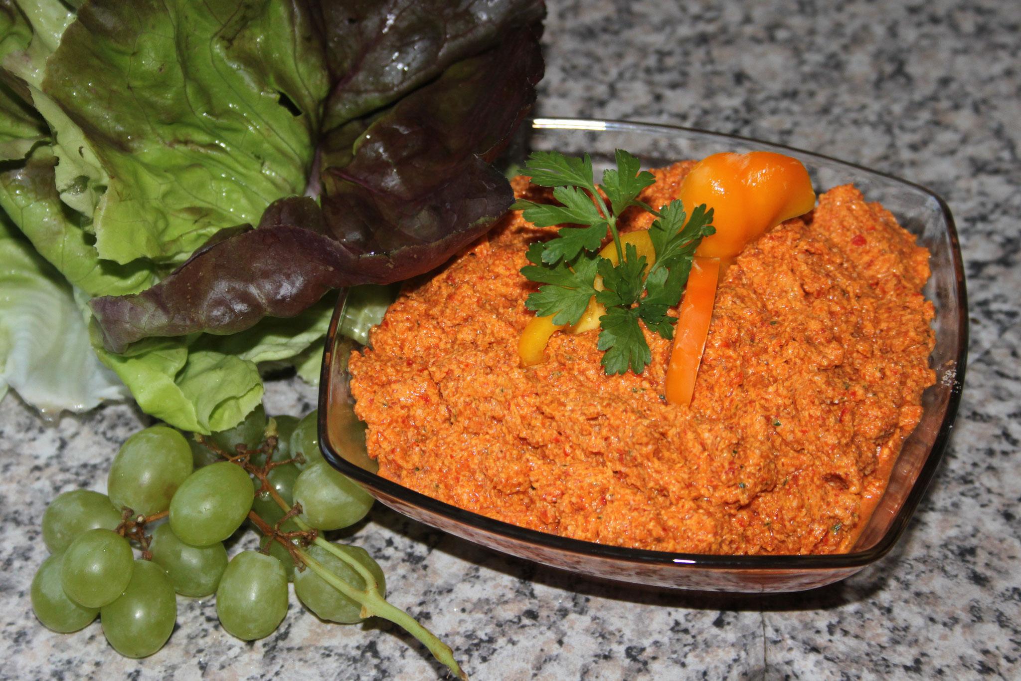 Paprika-Karotten-Aufstrich