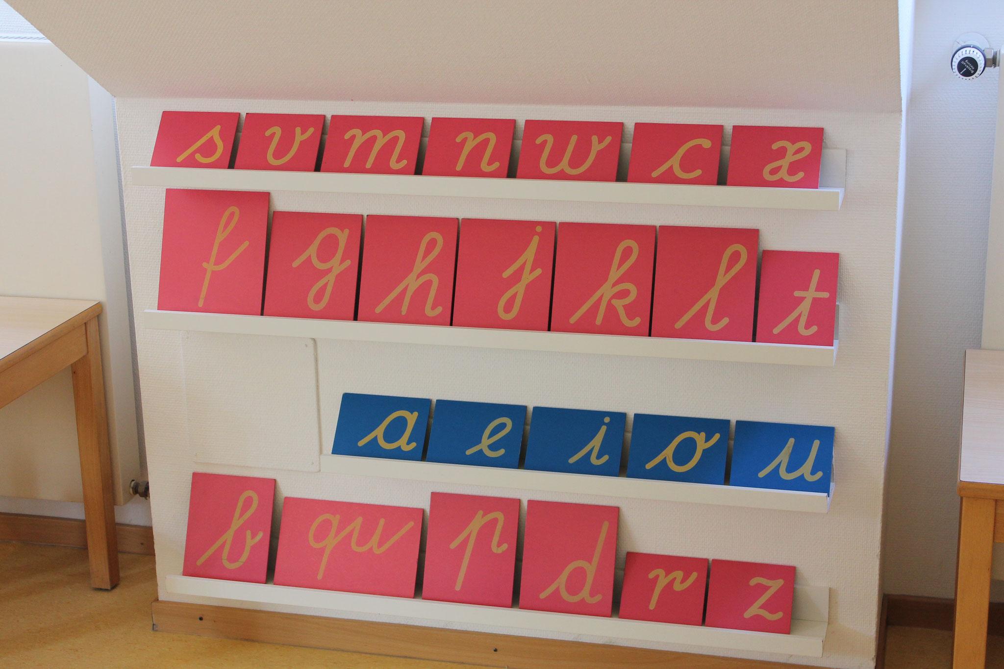 Sandpapierbuchstaben