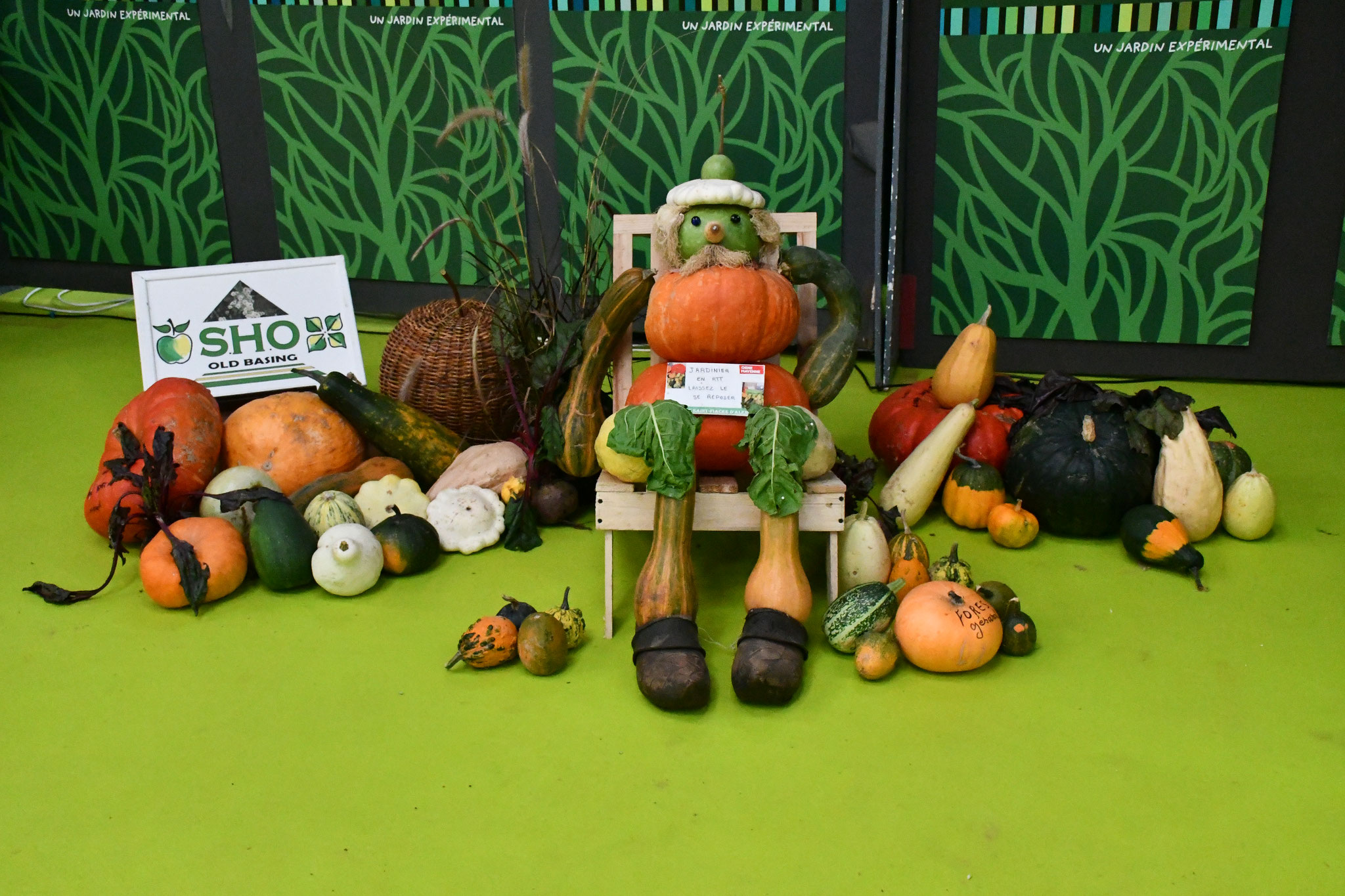 Jardinier réalisé en  légumes