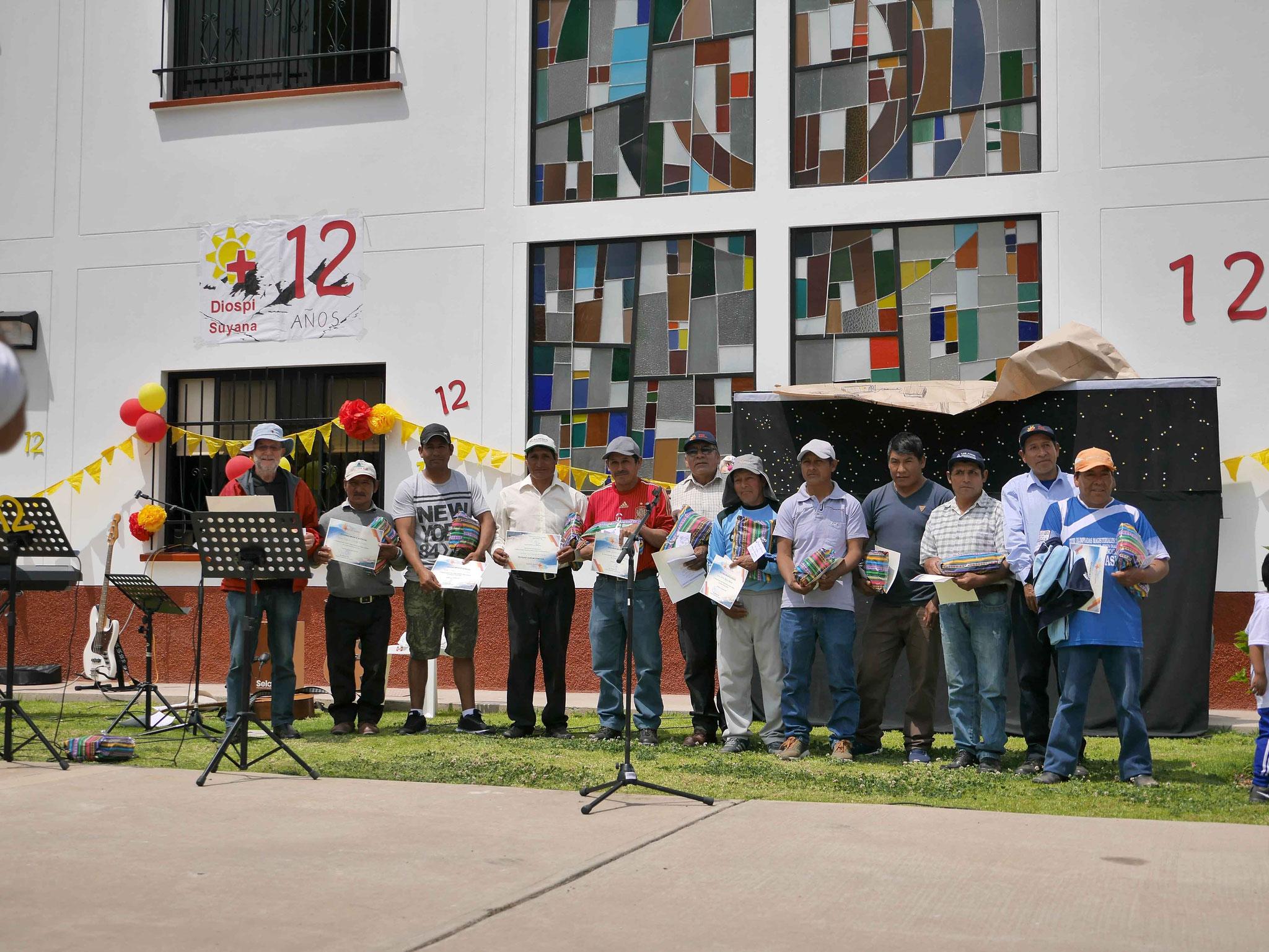 Beim diesjährigen Jubiläumsfest geht der Dank beonders an die Mitarbeiter des Bauteams von Udo Klemenz, ...