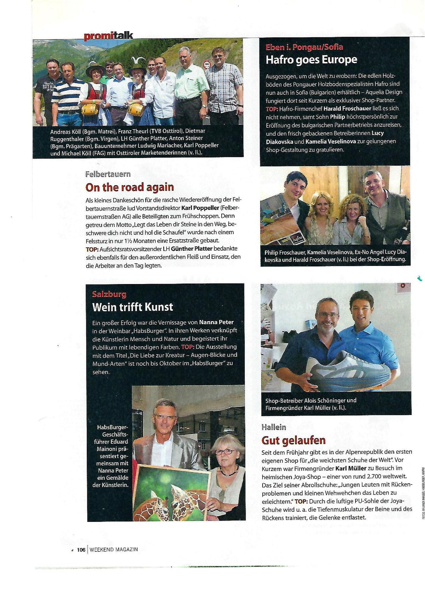 Artikel im Weekend-Magazin