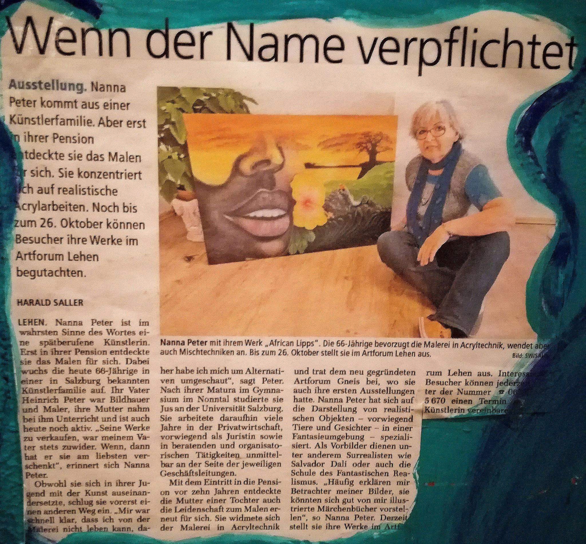 Artikel von Harald Saller in den Stadtnachrichten