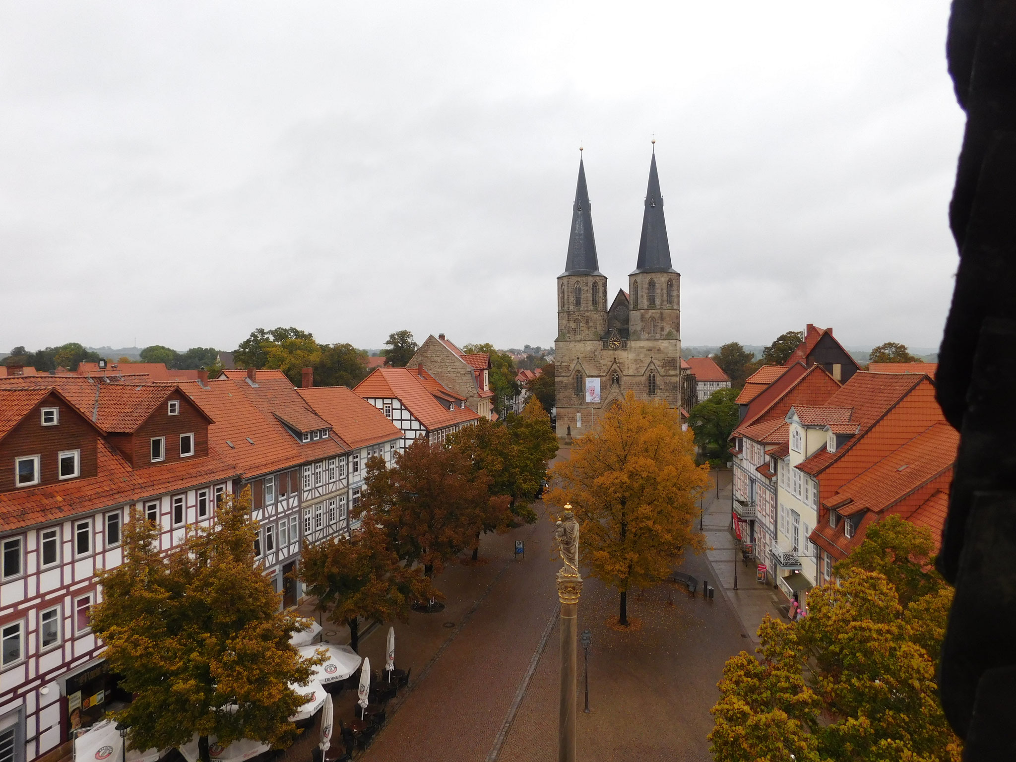 Blick über Duderstadt zur St. Cyriakus-Basilika