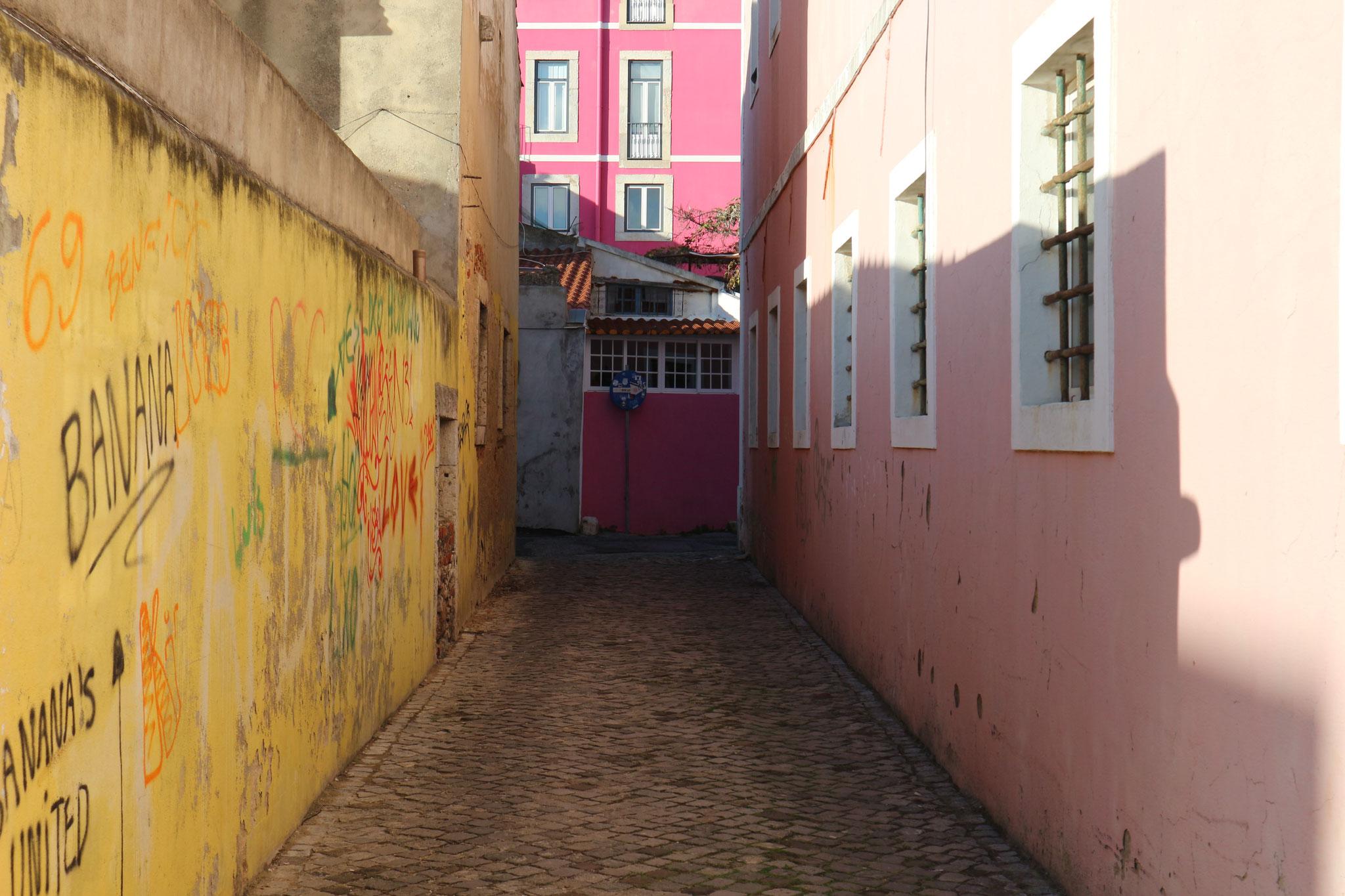 Alles bunt, alles eng gedrängt und verwinkelt. Sich zwischen Graffiti und Streetart verlaufen und inspirieren lassen funktioniert jedes Mal!