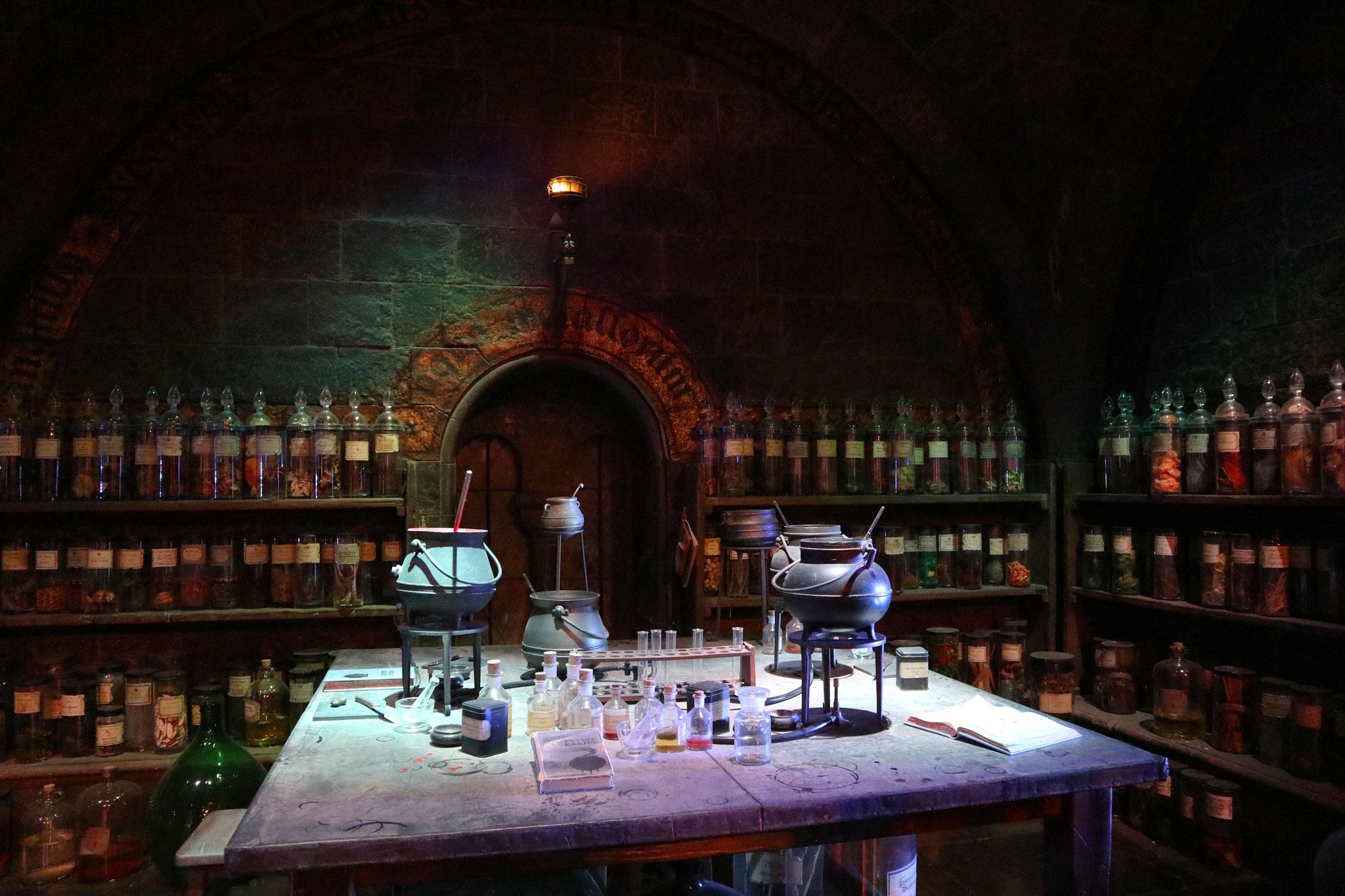 Der Potions Classroom war richtig schön gemacht :)