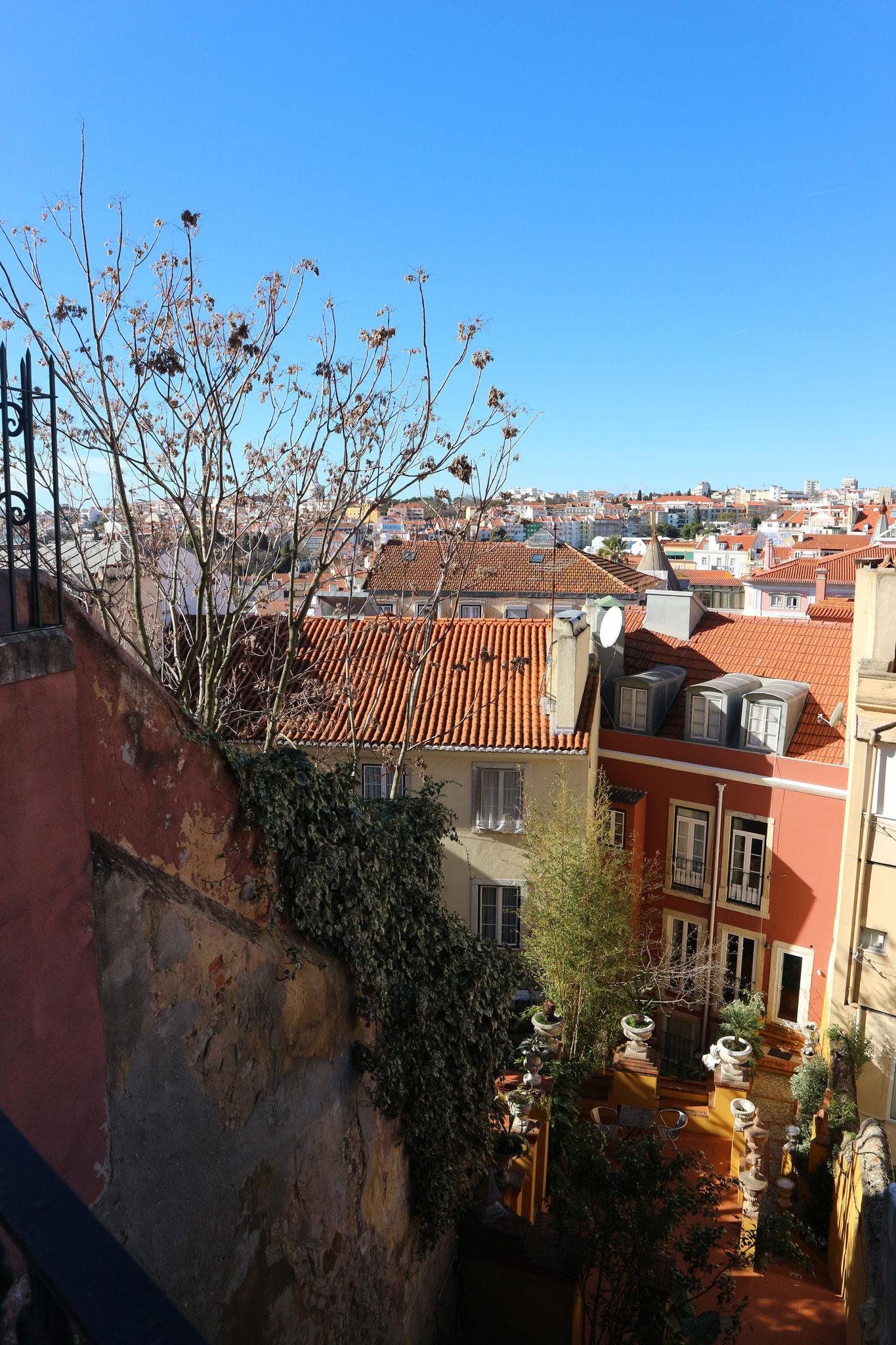 Reste von Wandmalerei, ein kleiner Garten zwischen Häusern & die Aussicht auf ein Dächermeer - in einer meiner Geschichten wiederzufinden. Flair und so :D