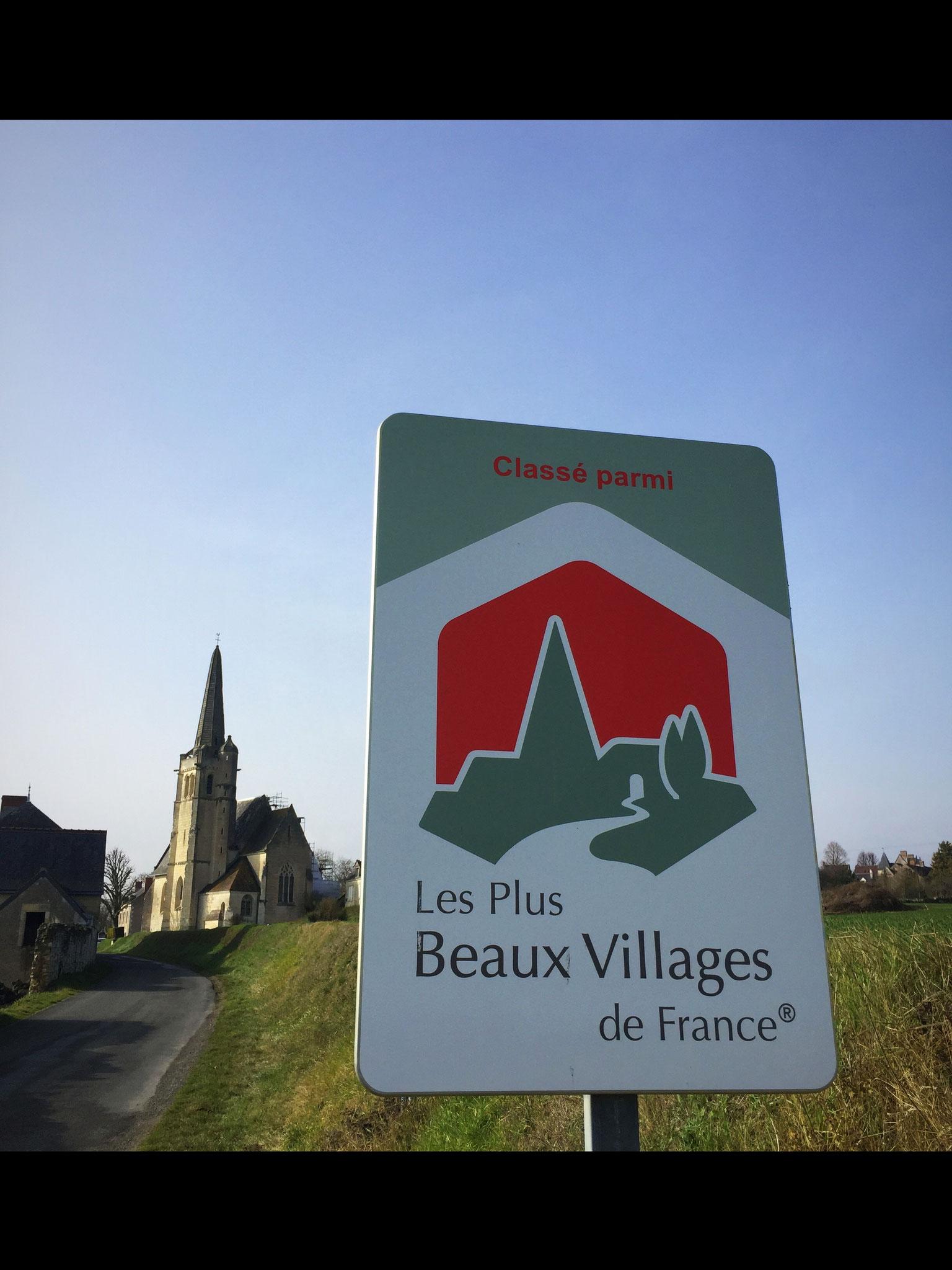 """Zertifikat """"eins der schönsten Dörfer Frankreichs"""""""