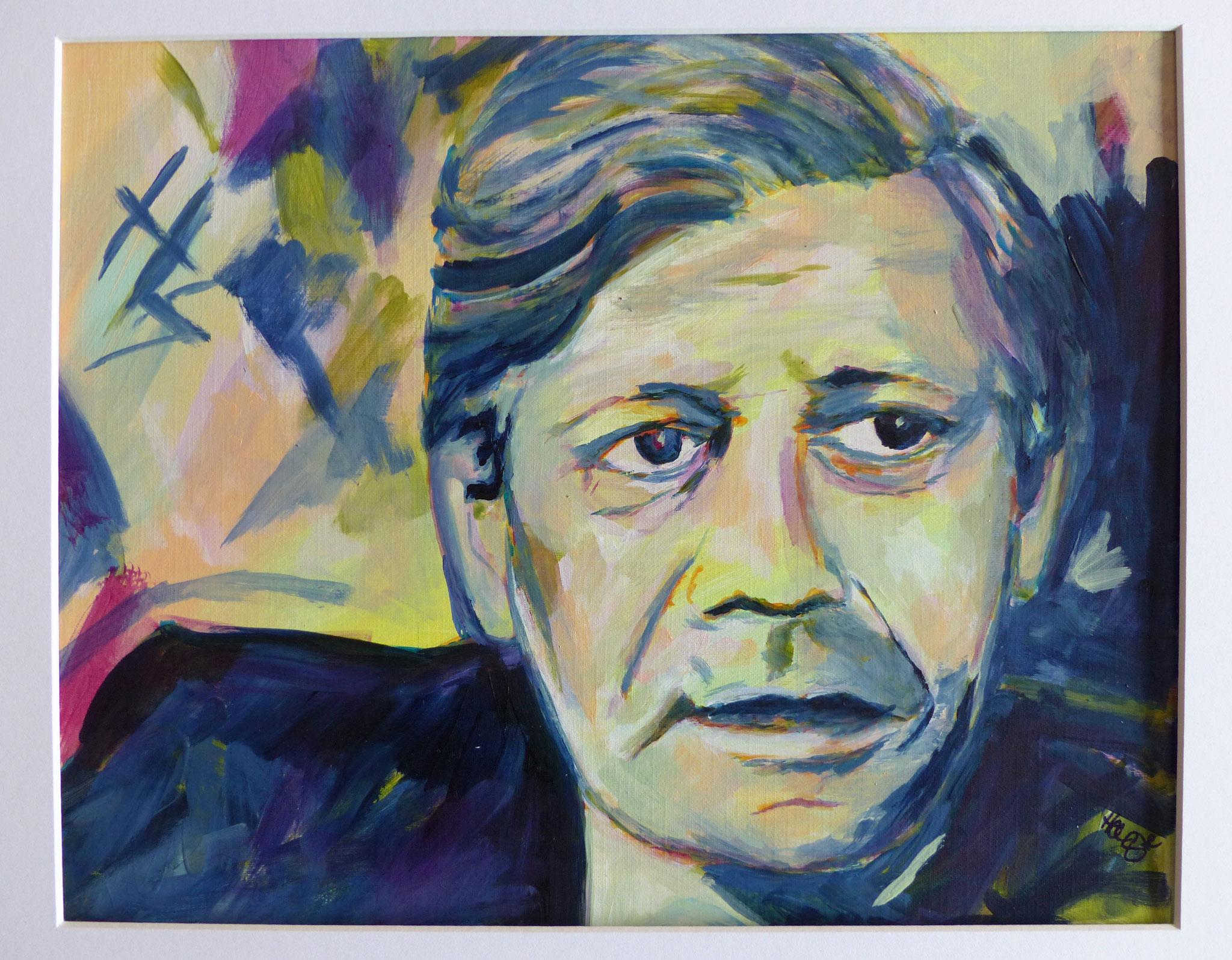 Helmut Schmidt, 30x40, Papier