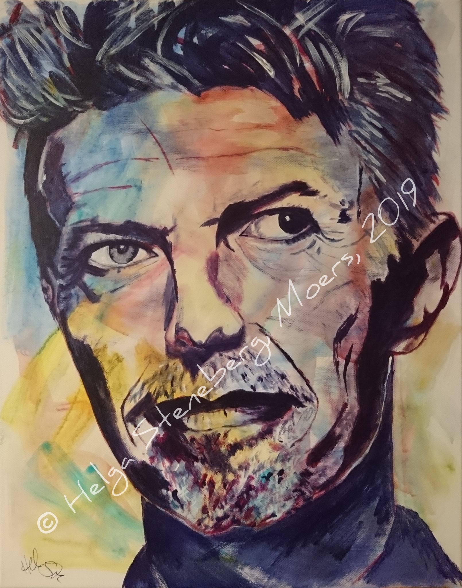 David Bowie, 50x40, LW