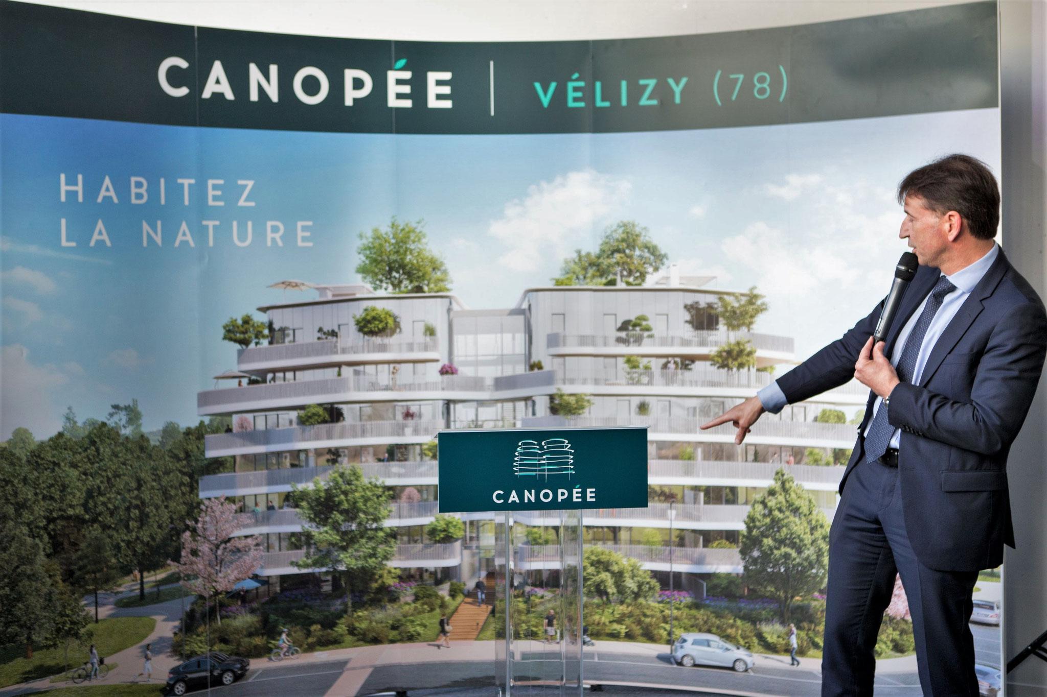 Pascal Thévenot, Maire de Vélizy-Villacoublay lors de la présentation du programme immobilier Canopée.