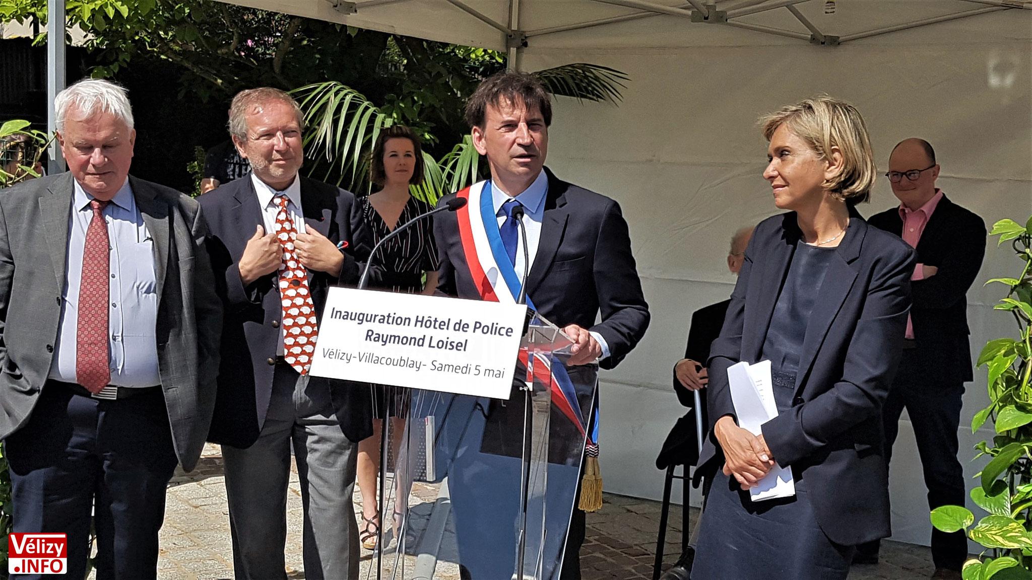 Pascal Thévenot, remercie Valérie Pécresse de sa présence.