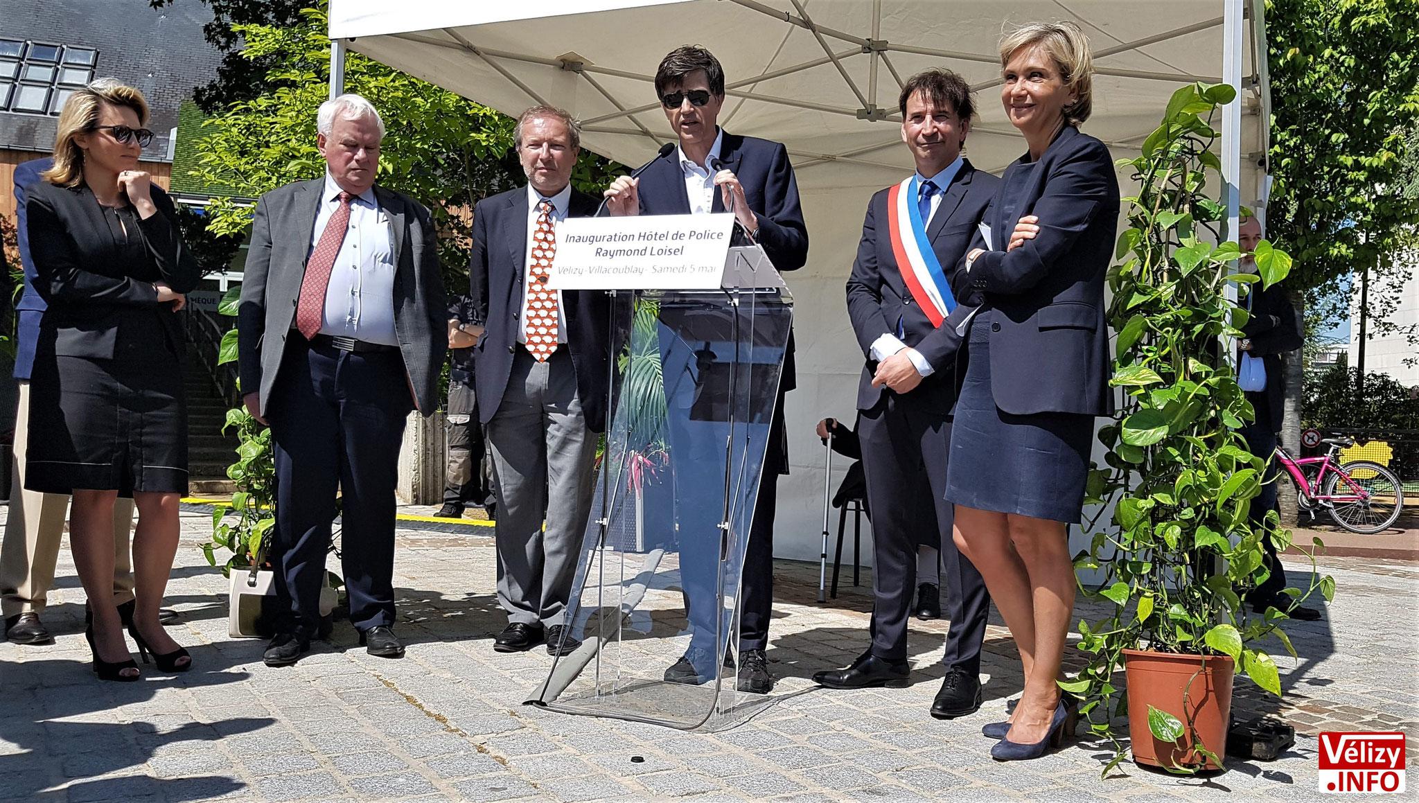 Prise de parole de François de Mazières, maire de Versailles et président de la communauté d'agglomération Versailles Grand Parc.