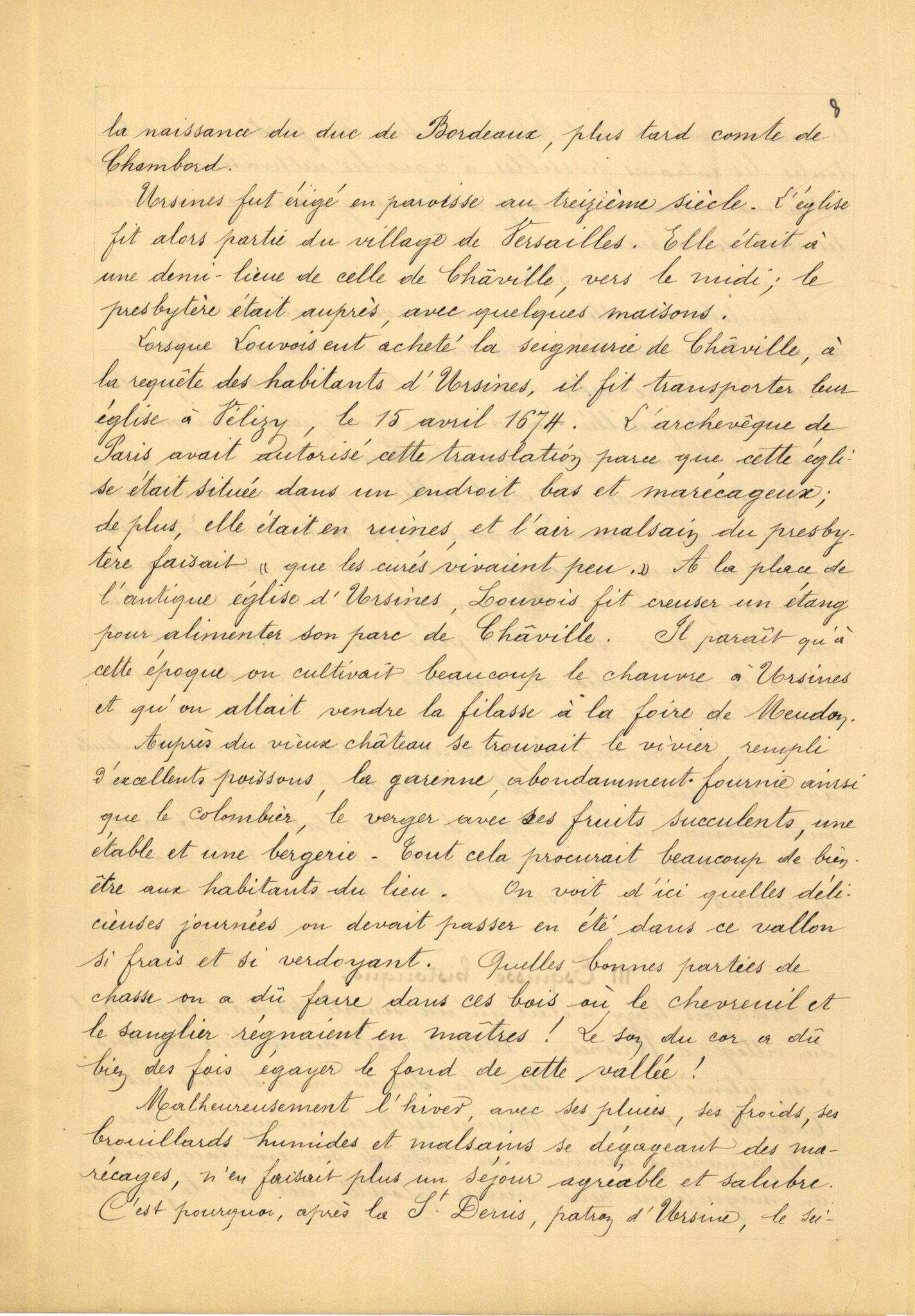 Page 8 - Monographie communale de l'instituteur de Vélizy, 1899
